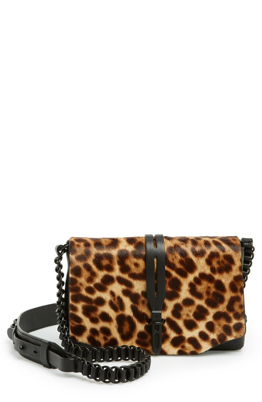 Main Image - rag & bone 'Mini Enfield' Genuine Calf Hair & Leather Crossbody Bag