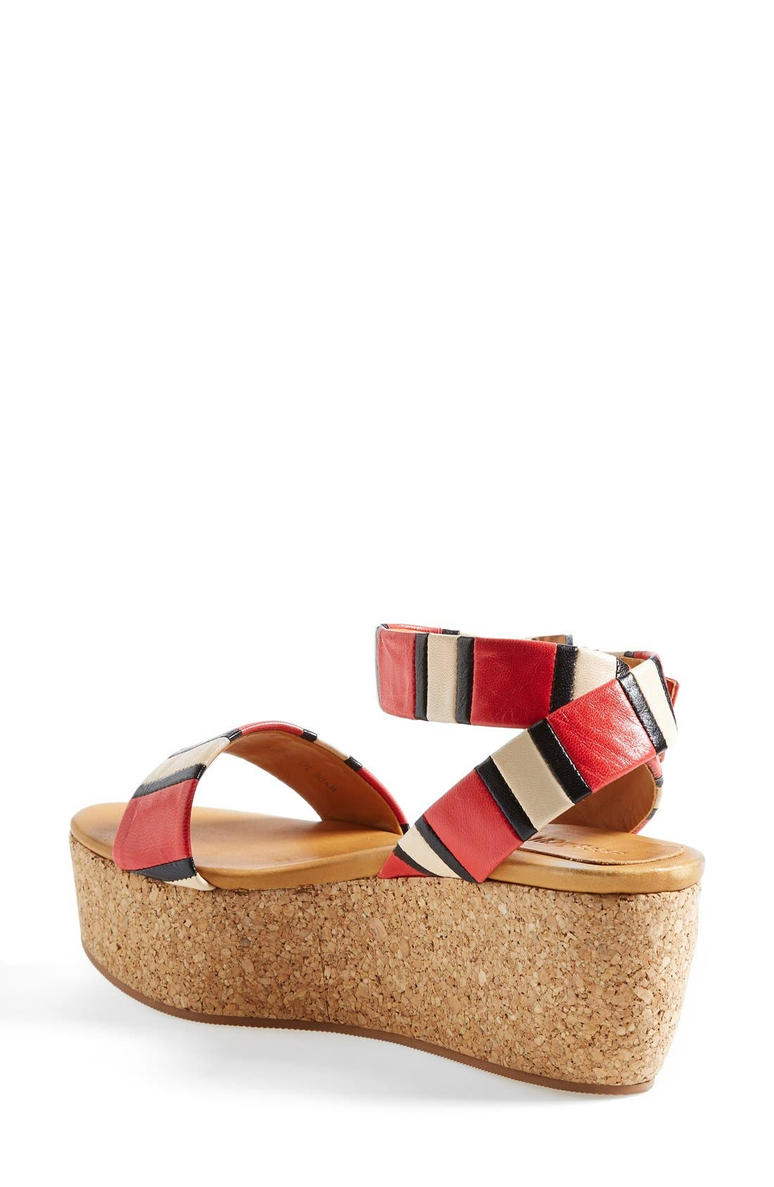Alternate Image 2  - See by Chloé 'Patti' Stripe Wedge Sandal