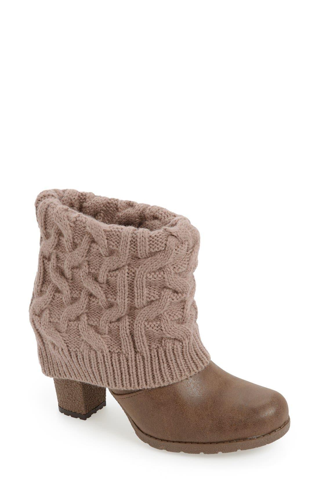 Main Image - MUK LUKS 'Chris' Knit Cuff Bootie (Women)