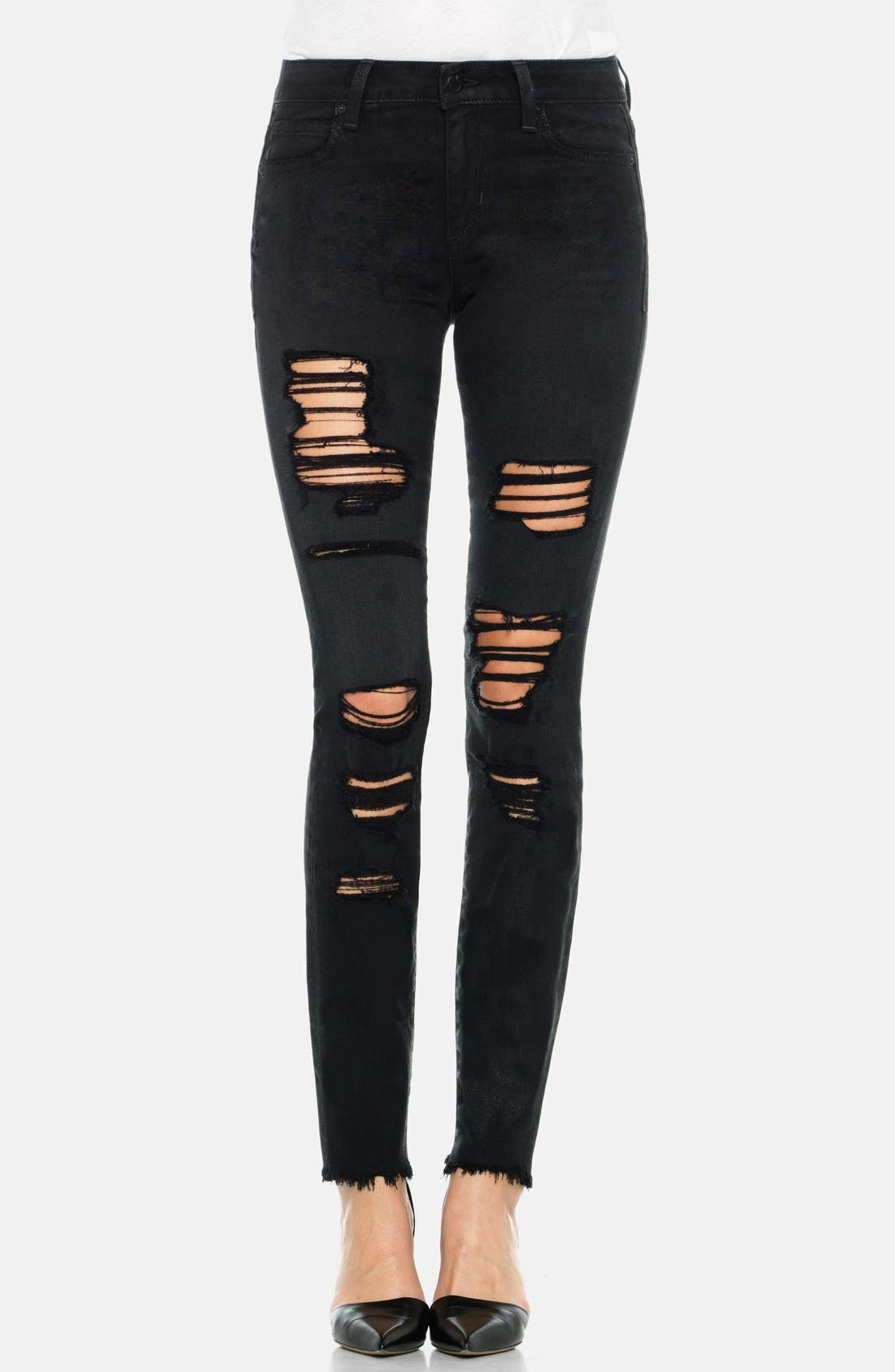 Main Image - Joe's 'Finn' Destructed Skinny Ankle Jeans (Braelyn)