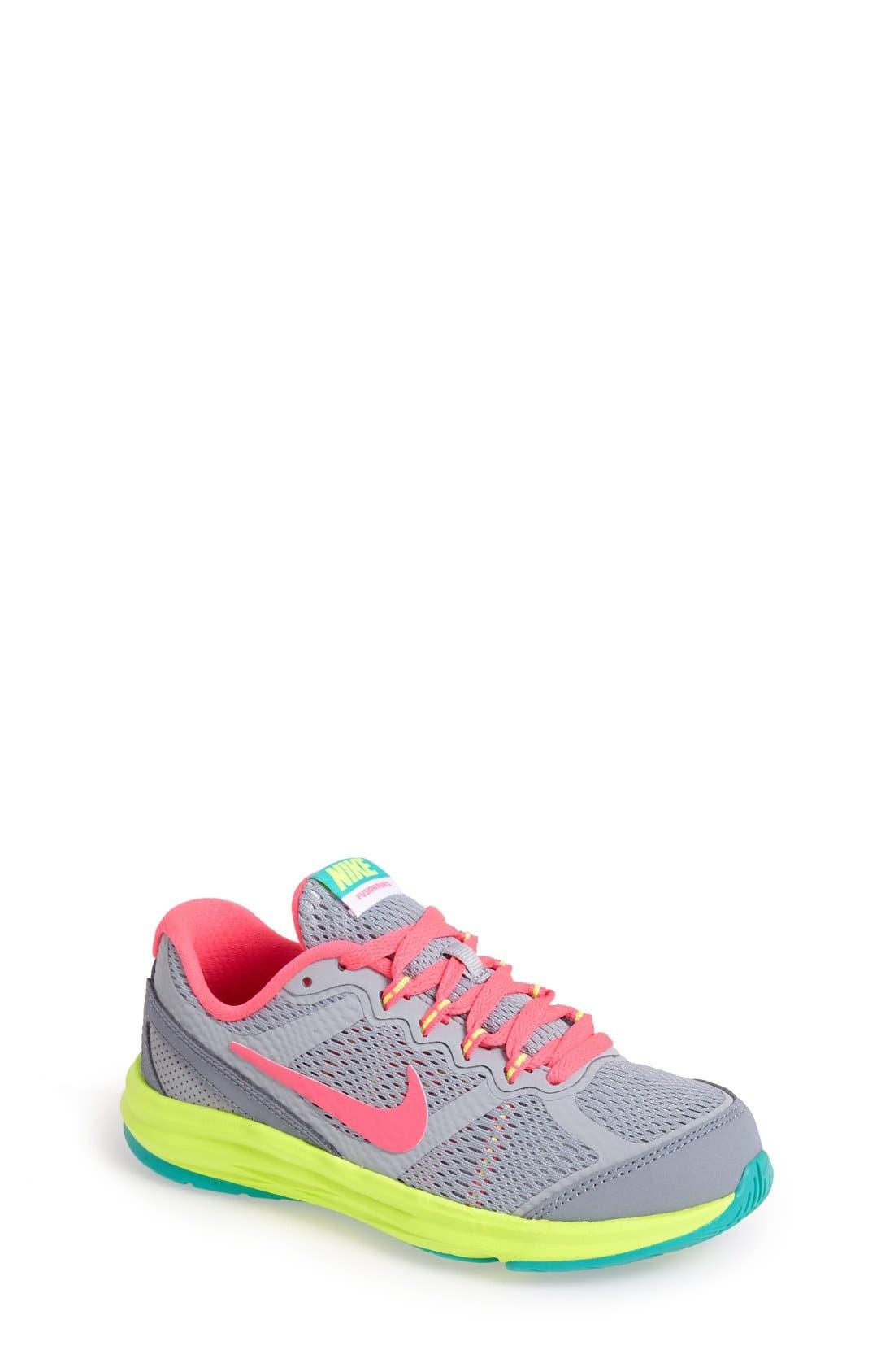 Alternate Image 1 Selected - Nike 'Dual Fusion Run' Athletic Shoe (Toddler & Little Kid)