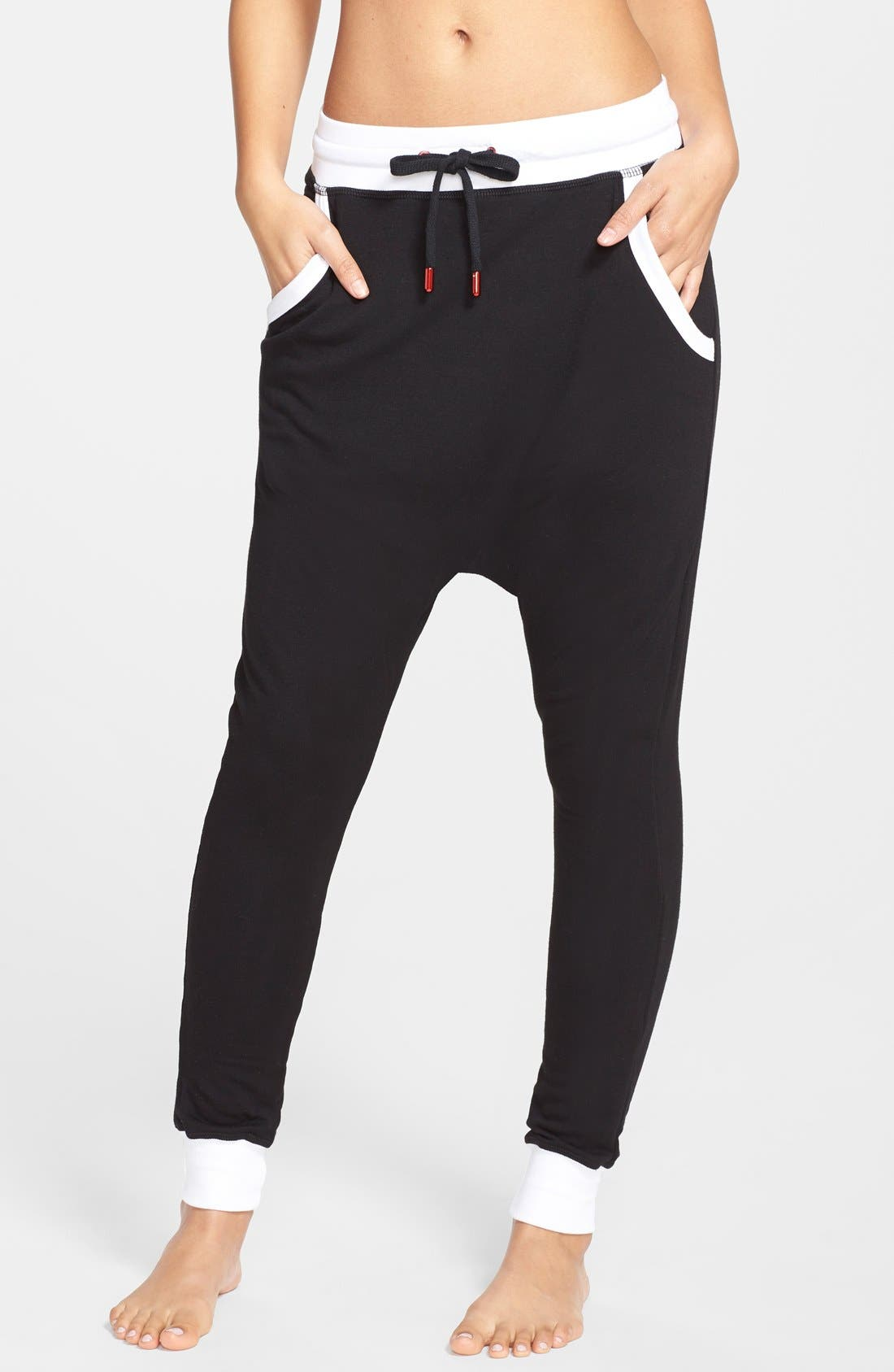 Alternate Image 1 Selected - California Creative Republic Brushed French Terry Drop Crotch Sweatpants