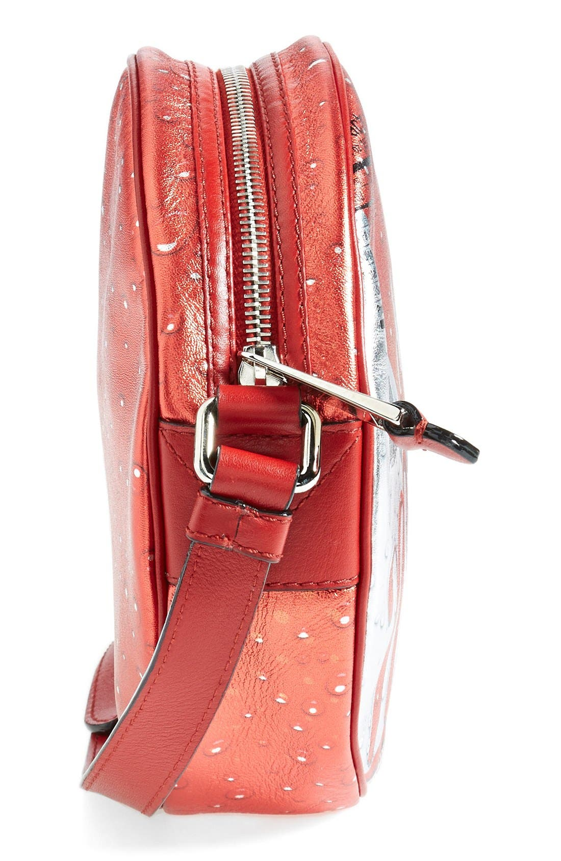 Alternate Image 4  - Moschino 'Drink Moschino' Laminated Leather Crossbody Bag