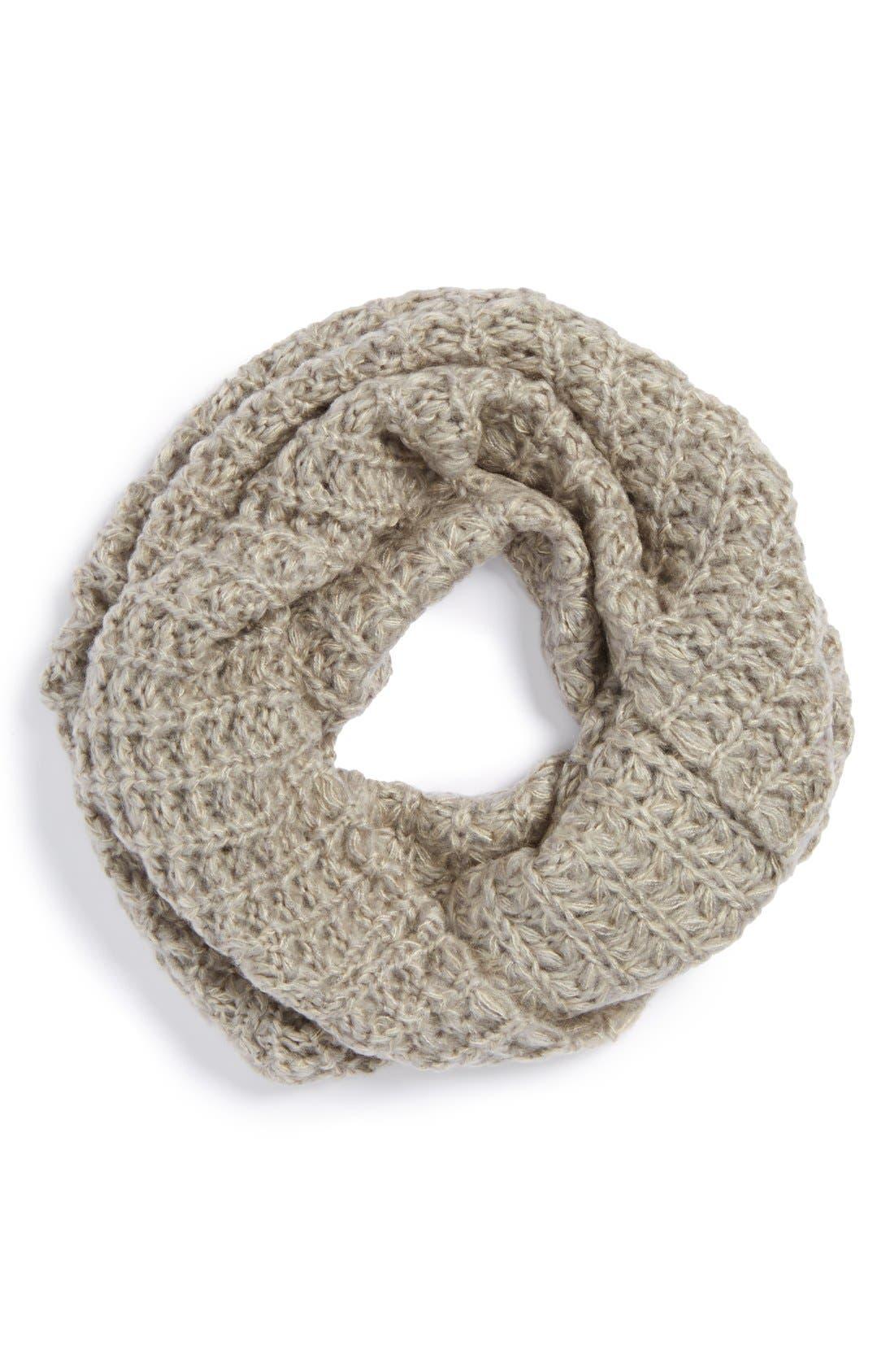 Main Image - BP. Waffle Knit Infinity Scarf (Juniors)