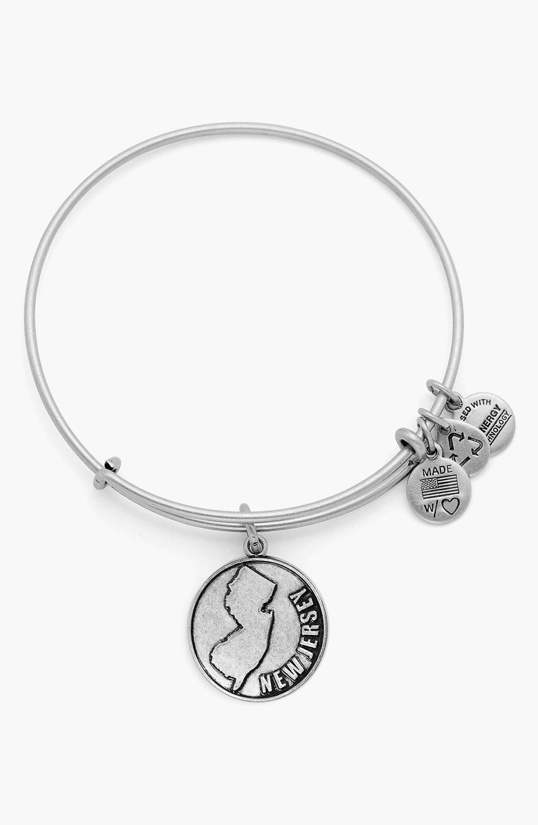 Alternate Image 1 Selected - Alex and Ani 'New Jersey' Expandable Wire Bangle
