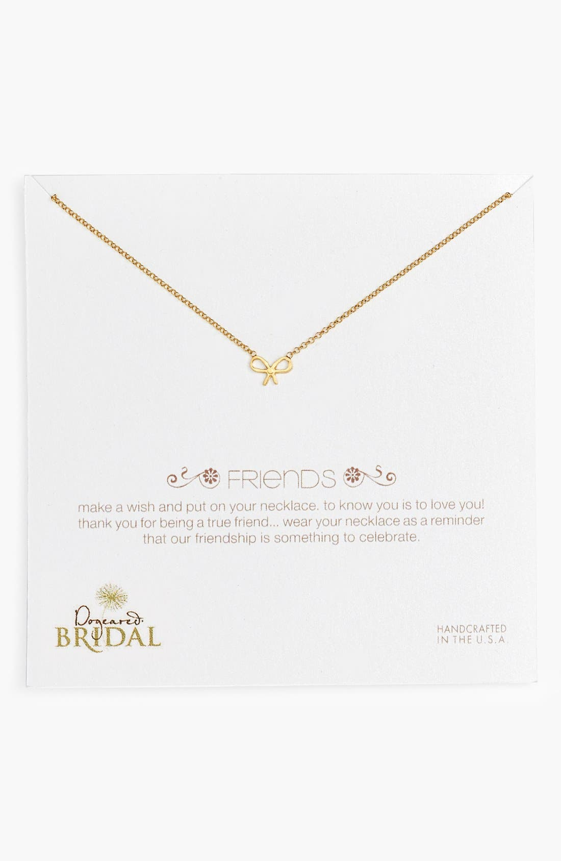 Main Image - Dogeared 'Friends - Bow' Pendant Necklace (Nordstrom Exclusive)