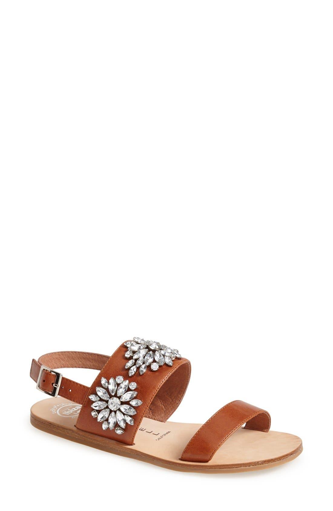 Alternate Image 1 Selected - Jeffrey Campbell 'Dola' Jeweled Leather Sandal (Women)