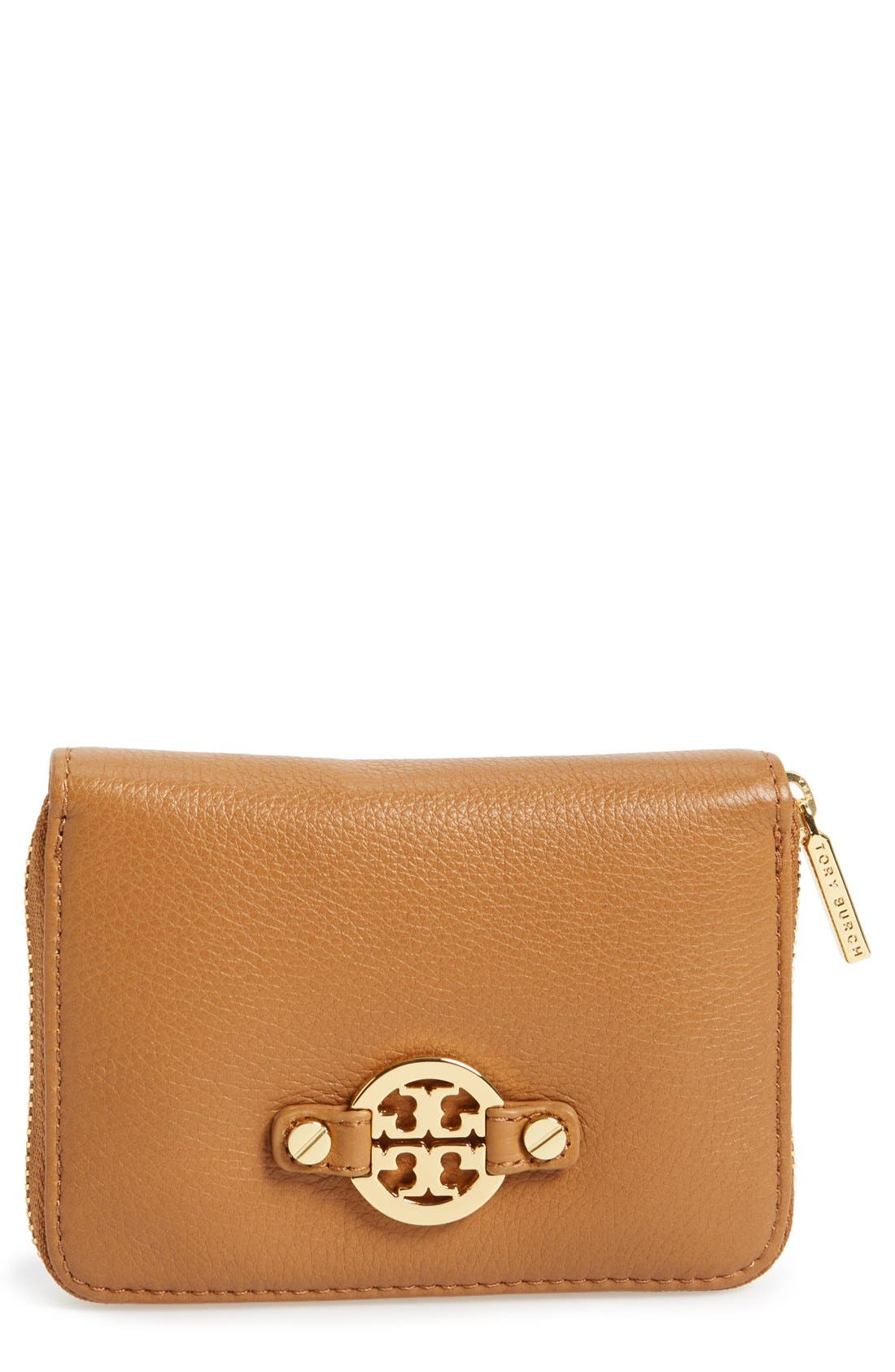 Main Image - Tory Burch 'Amanda' Leather Coin Case