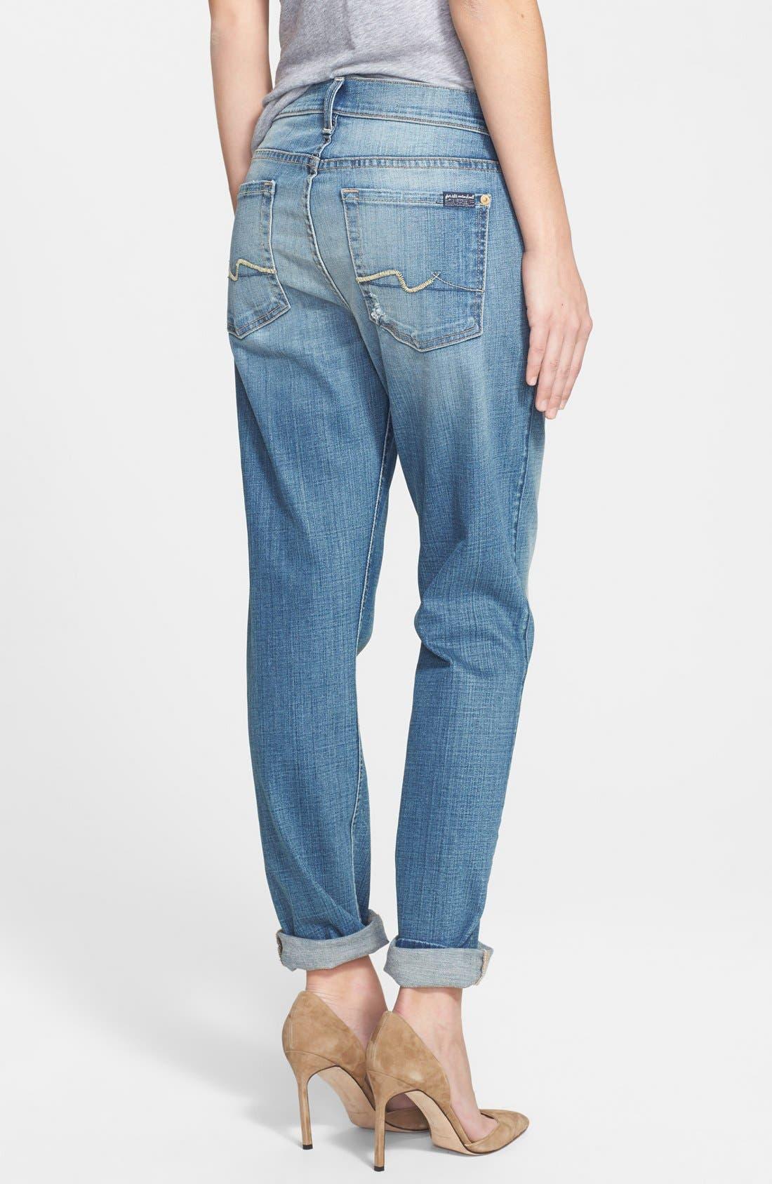 Alternate Image 2  - 7 For All Mankind® 'Josefina' Boyfriend Jeans (Aggressive Atlas Blue)
