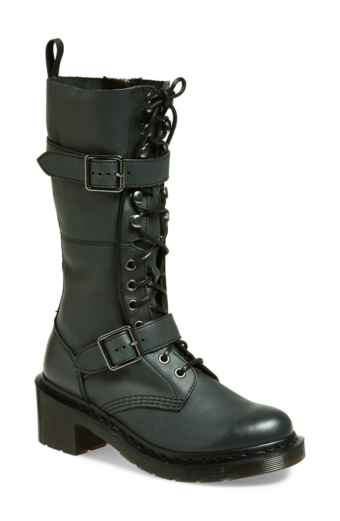 Alternate Image 1 Selected - Dr. Martens 'Josefa' Military Boot (Women)