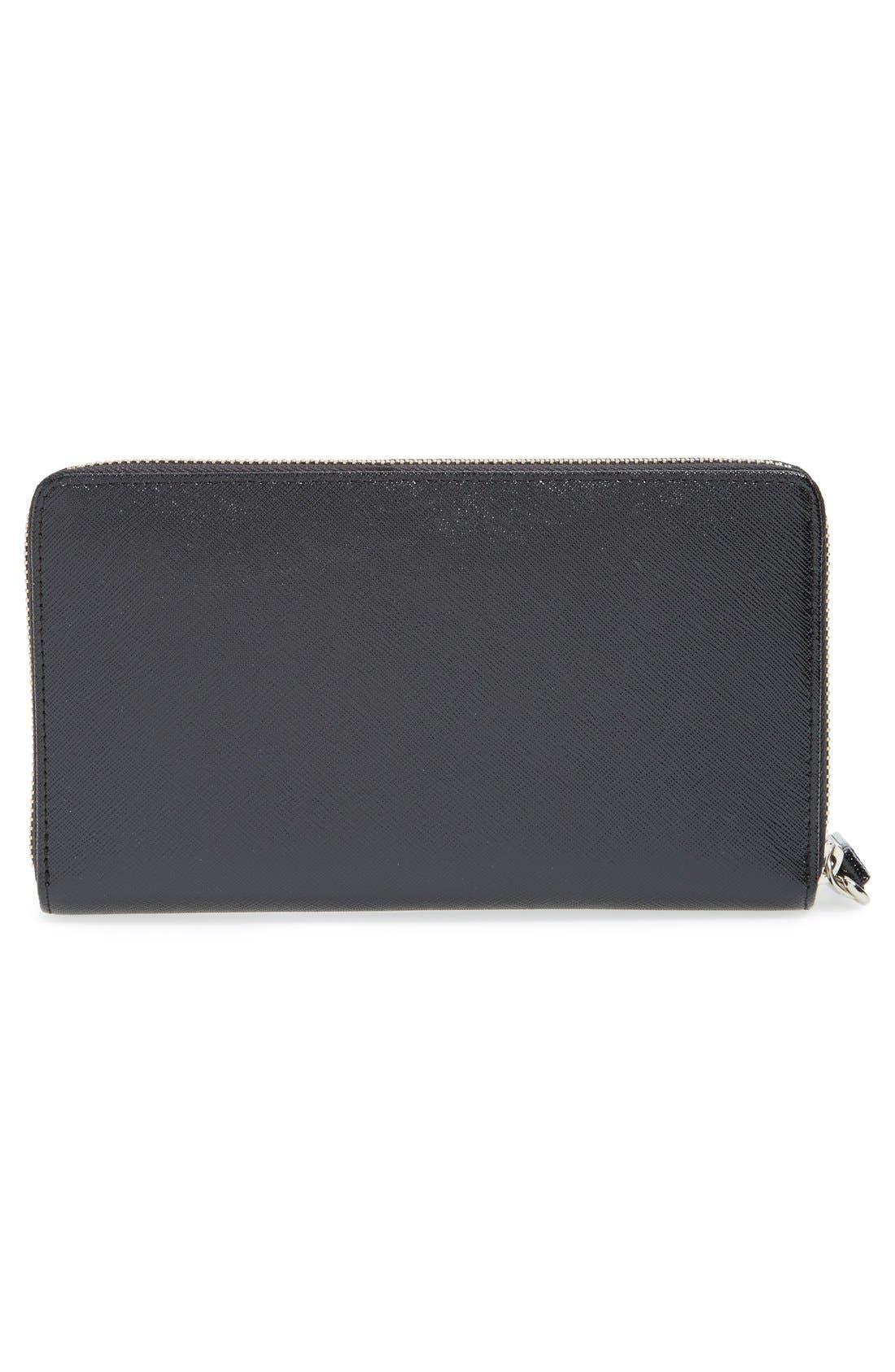 Alternate Image 3  - Halogen® Saffiano Leather Zip Around Wallet