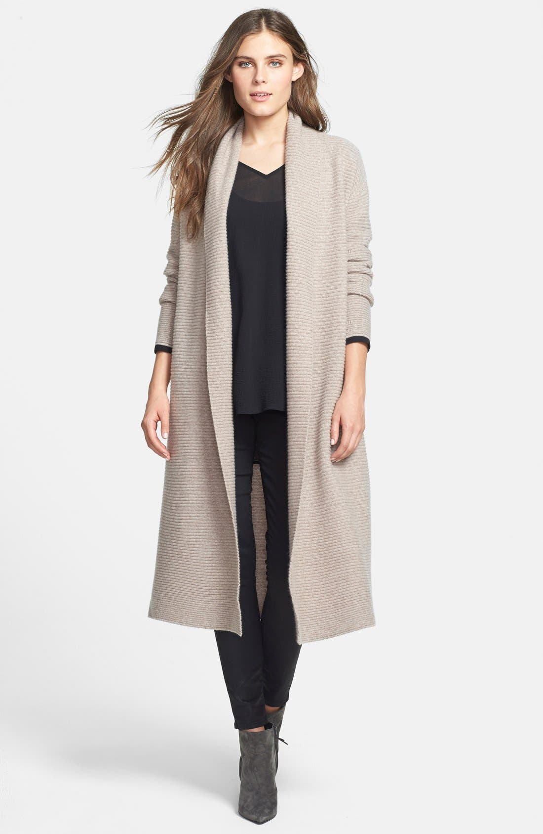 Alternate Image 1 Selected - Nordstrom Collection Long Cashmere Cardigan