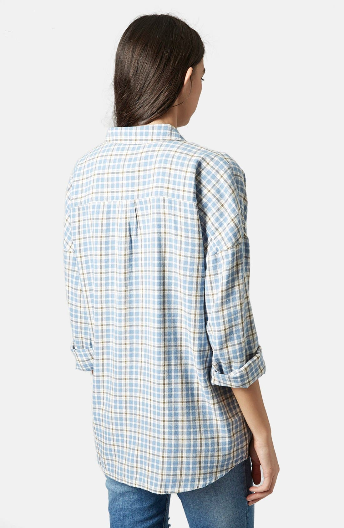 Alternate Image 2  - Topshop 'George Bobbi' Oversize Check Shirt
