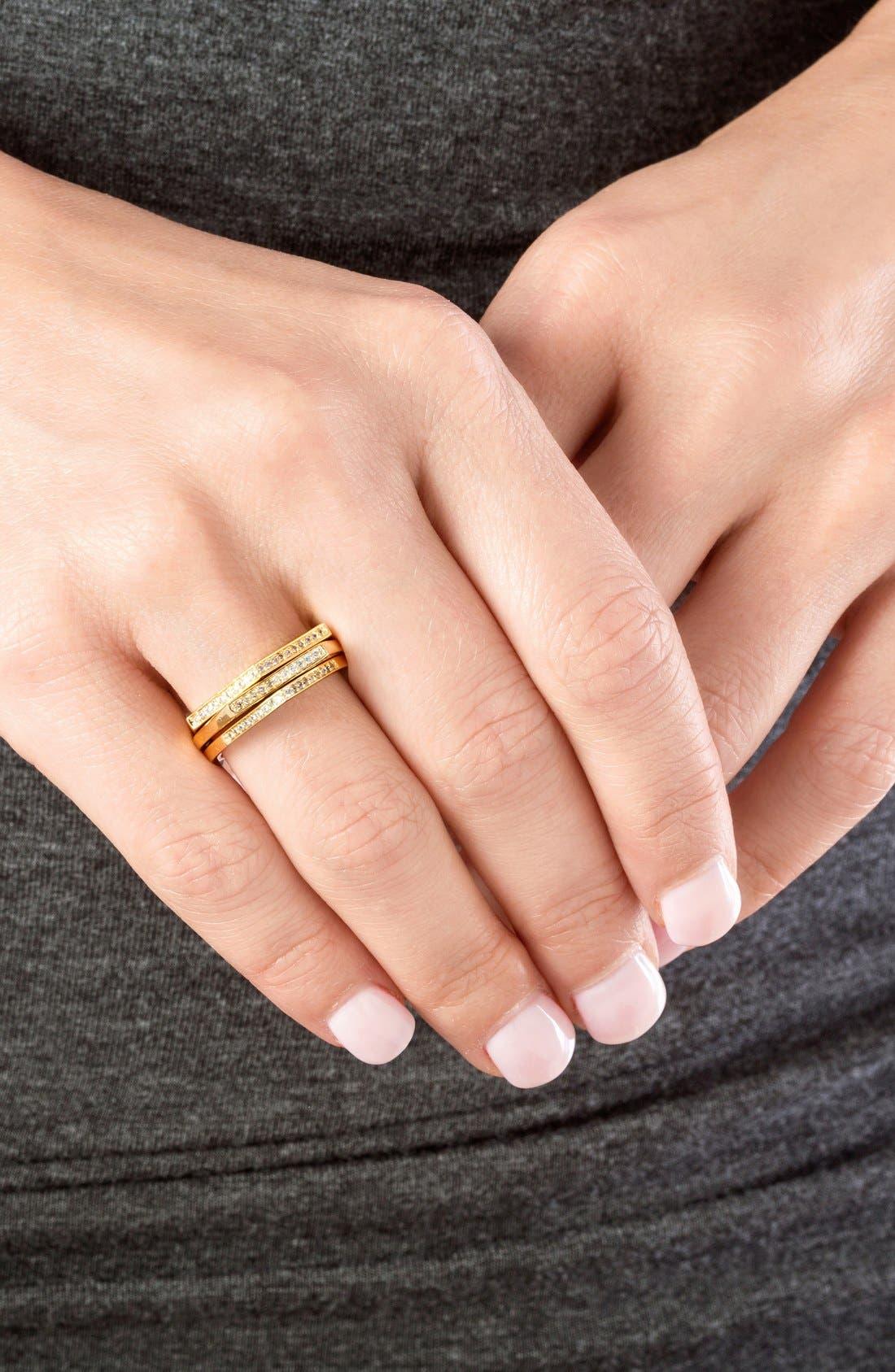 Alternate Image 3  - gorjana 'Mila Shimmer' Stackable Rings (Set of 3)