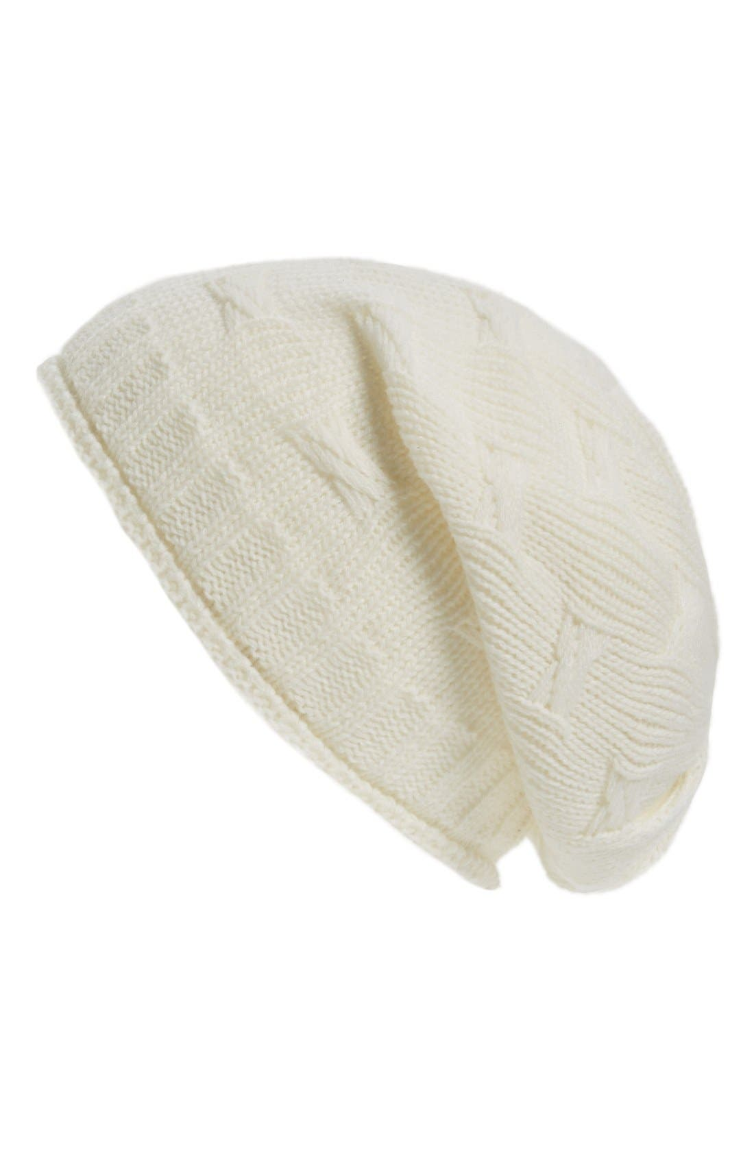 Alternate Image 1 Selected - David & Young Braid Knit Beanie (Juniors)