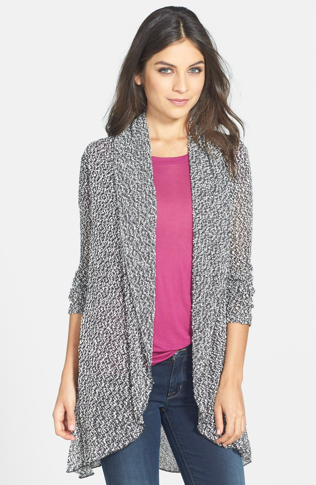 Alternate Image 1 Selected - Coin 1804 Open Stitch Open Front Cardigan