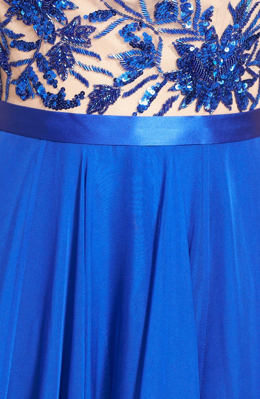 Alternate Image 3  - Sherri Hill Embellished Illusion Gown