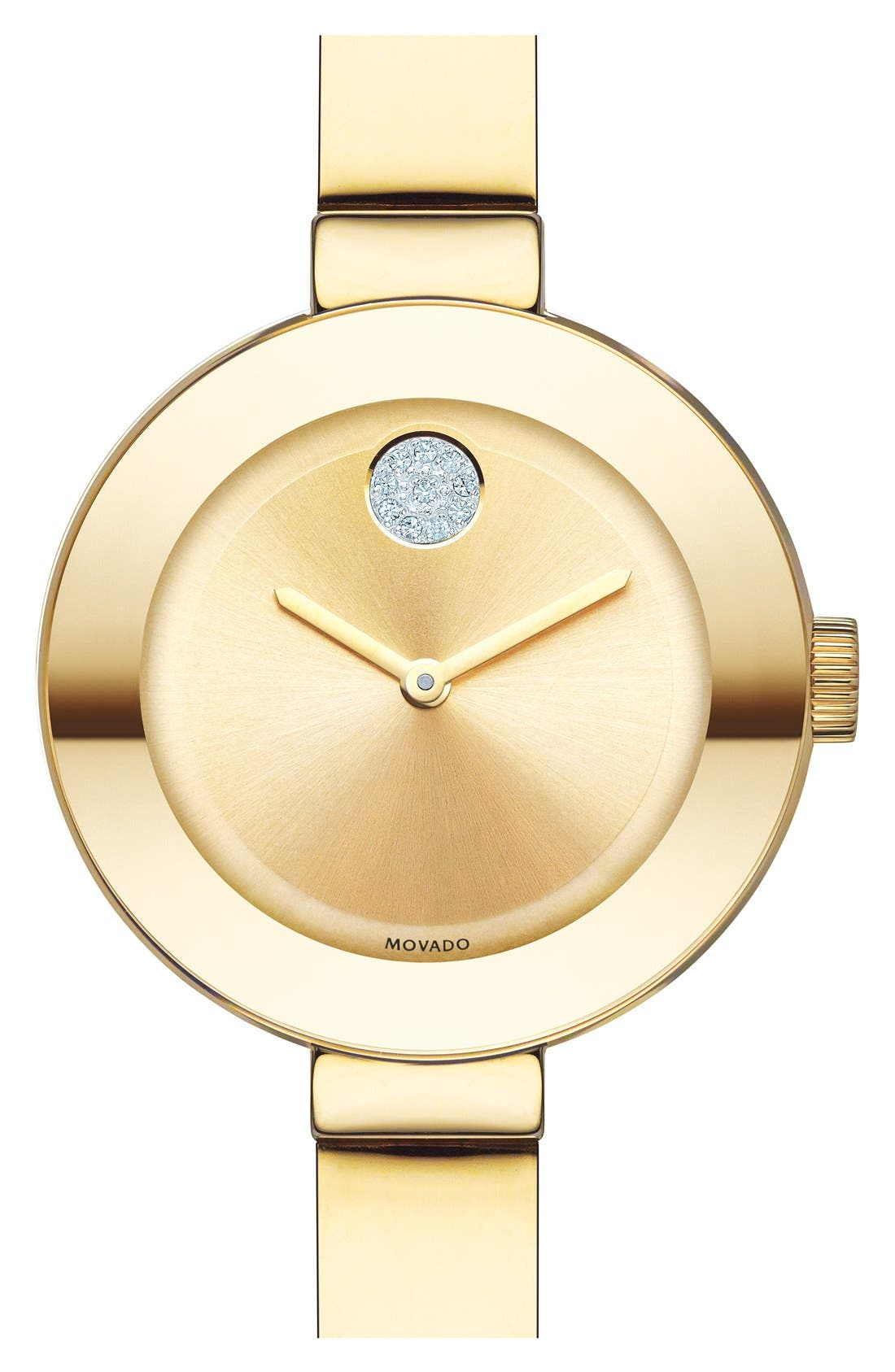 Main Image - Movado 'Bold' Crystal Accent Bangle Watch, 25mm