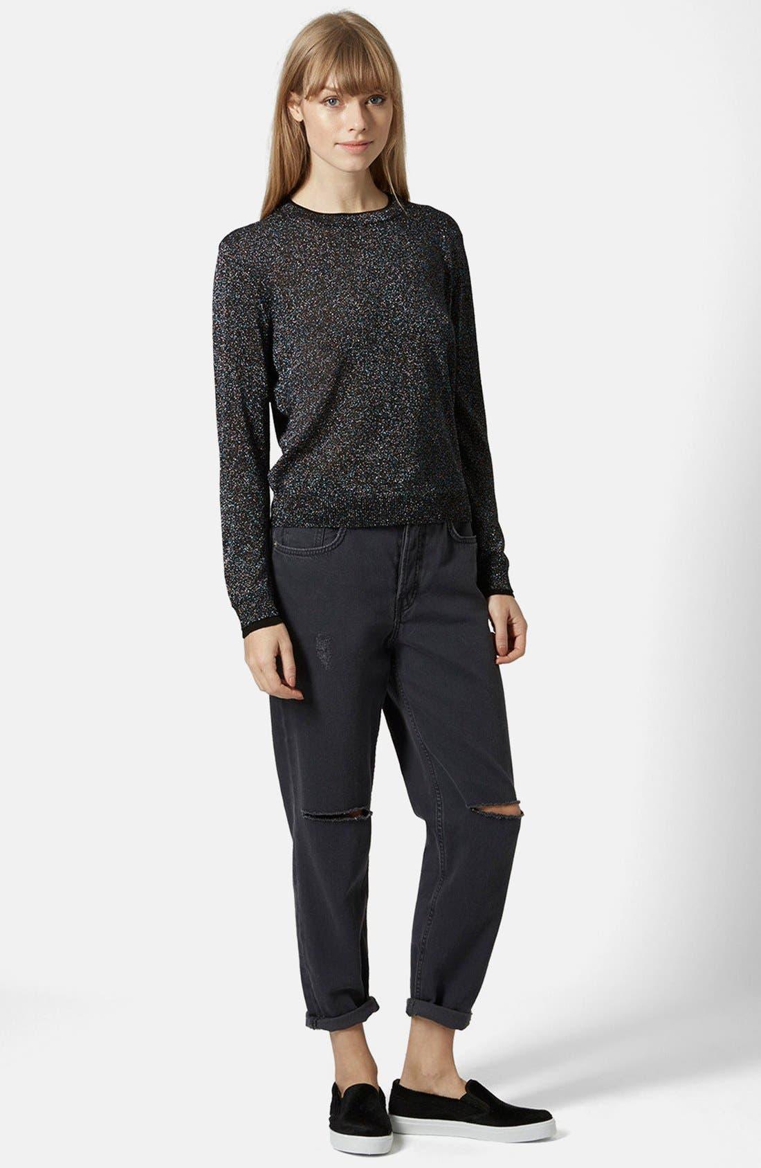 Alternate Image 5  - Topshop Metallic Fine Gauge Sweater