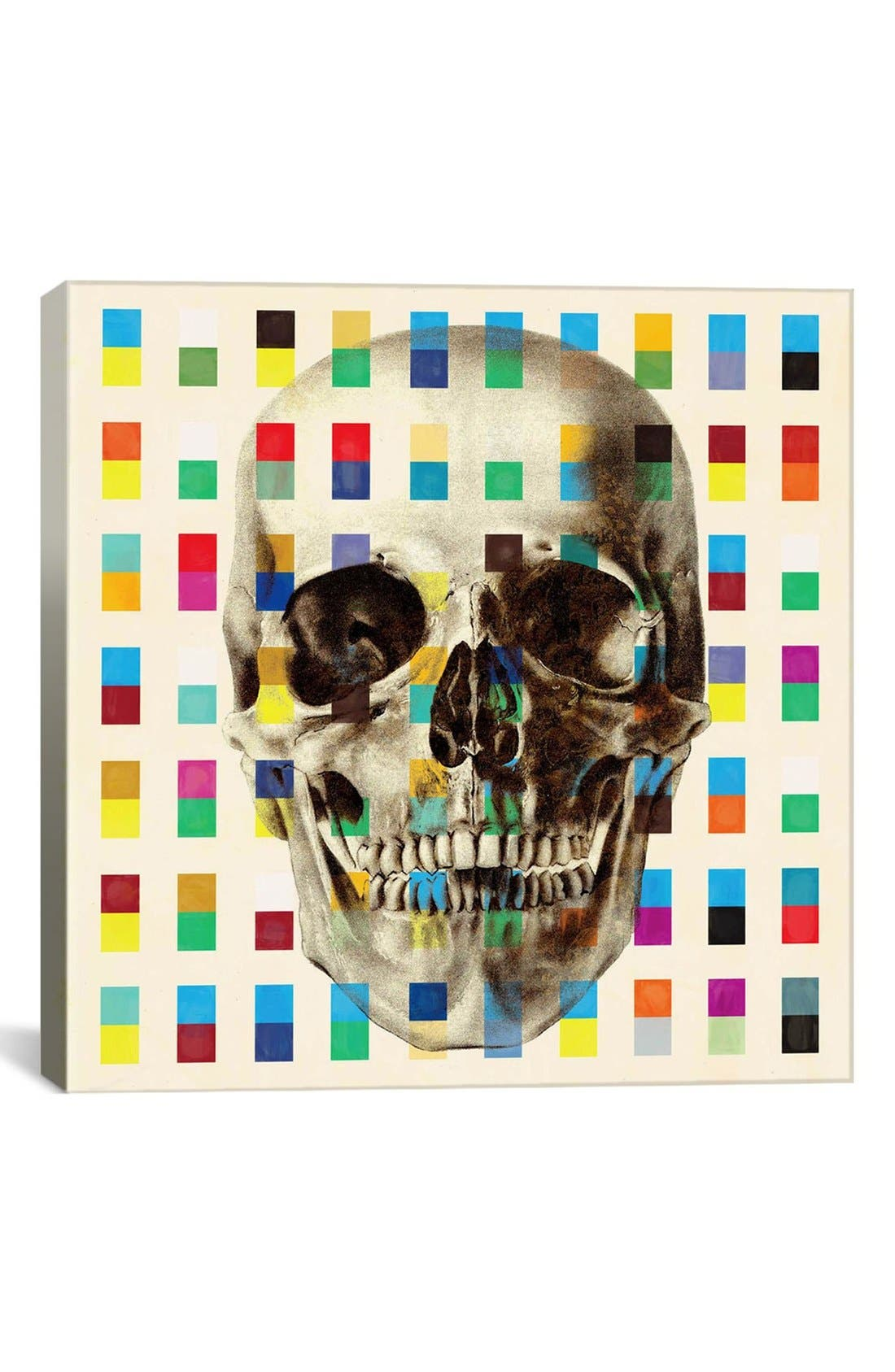 Main Image - iCanvas 'White Skull Cubes - Fabrizio' Giclée Print Canvas Art
