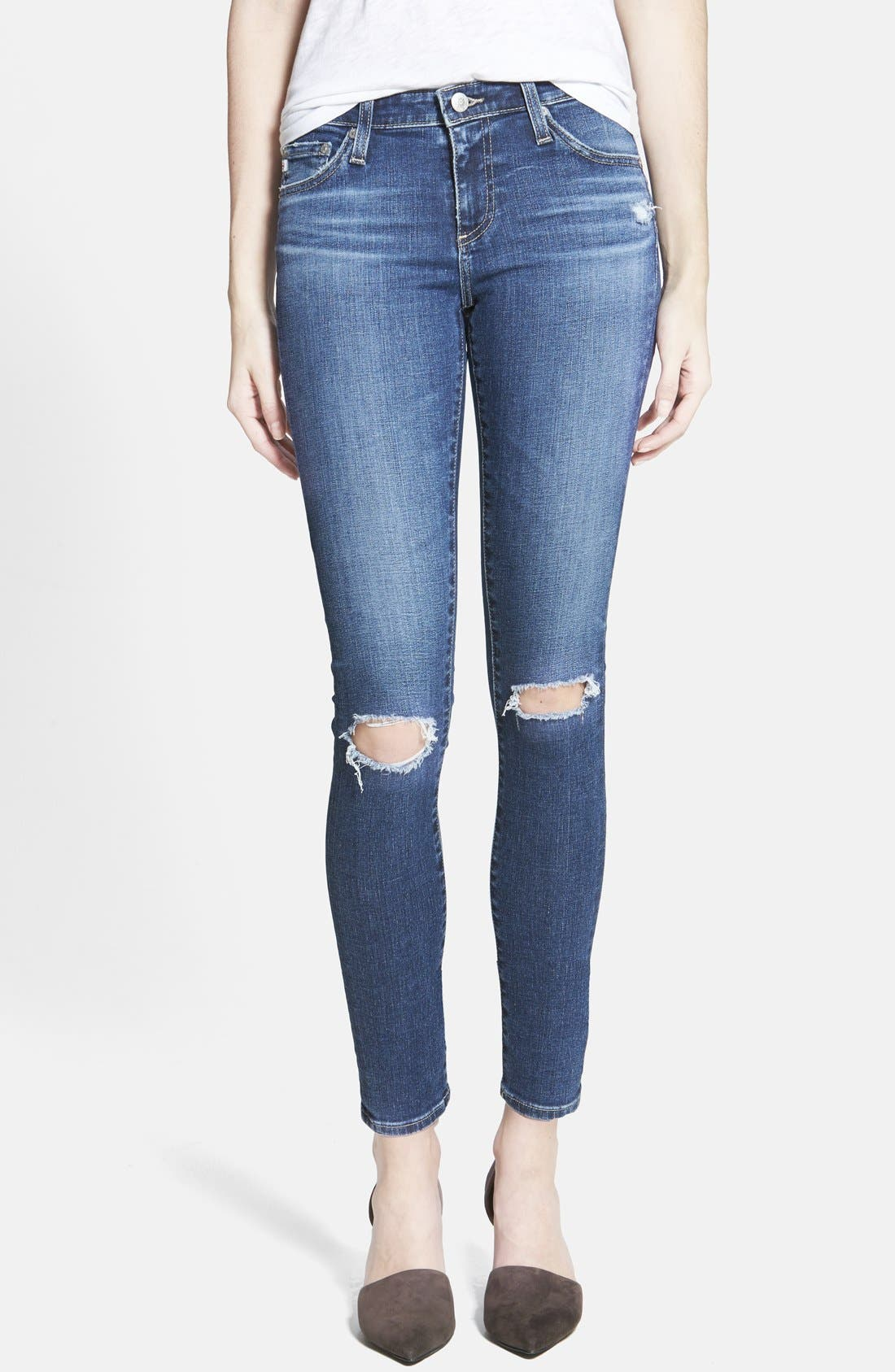 Alternate Image 1 Selected - Alexa Chung for AG 'The Legging' Ankle Jeans (11 Year Dreamer)