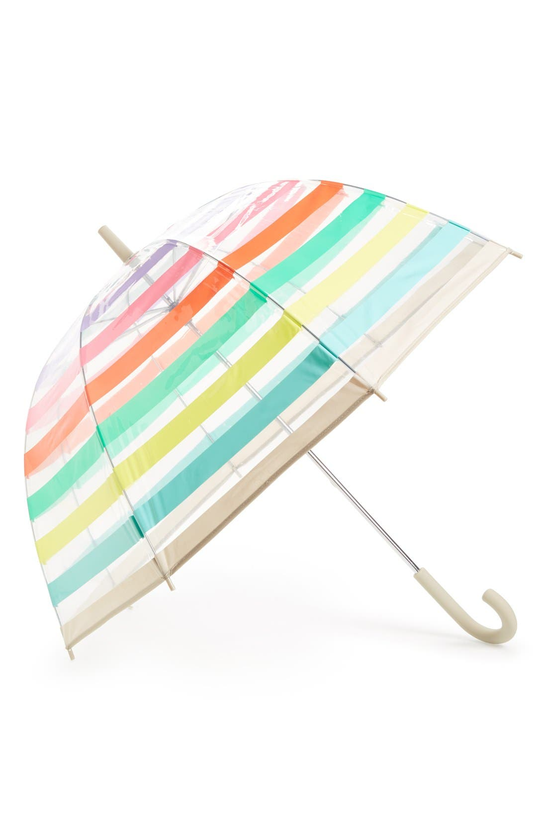 kate spade new york clear stripe umbrella