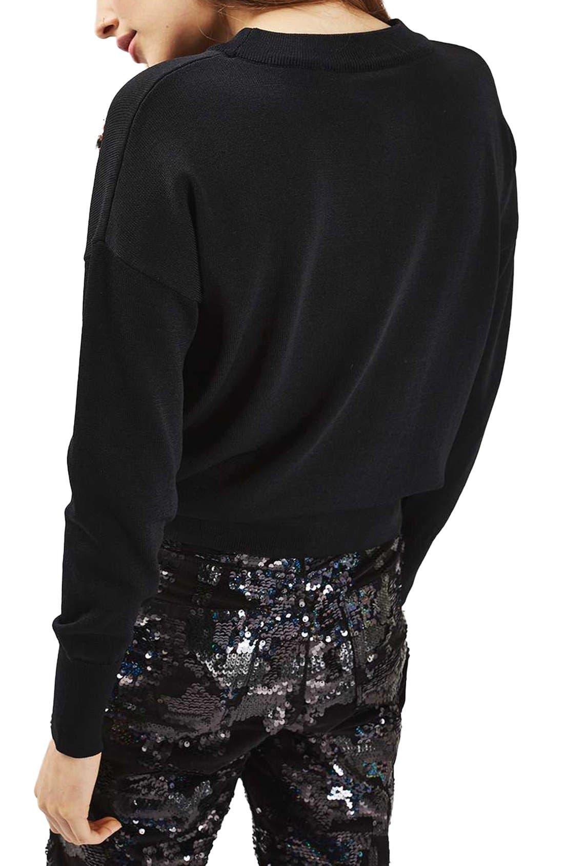 Alternate Image 3  - Topshop Christmas Ornament Sweater