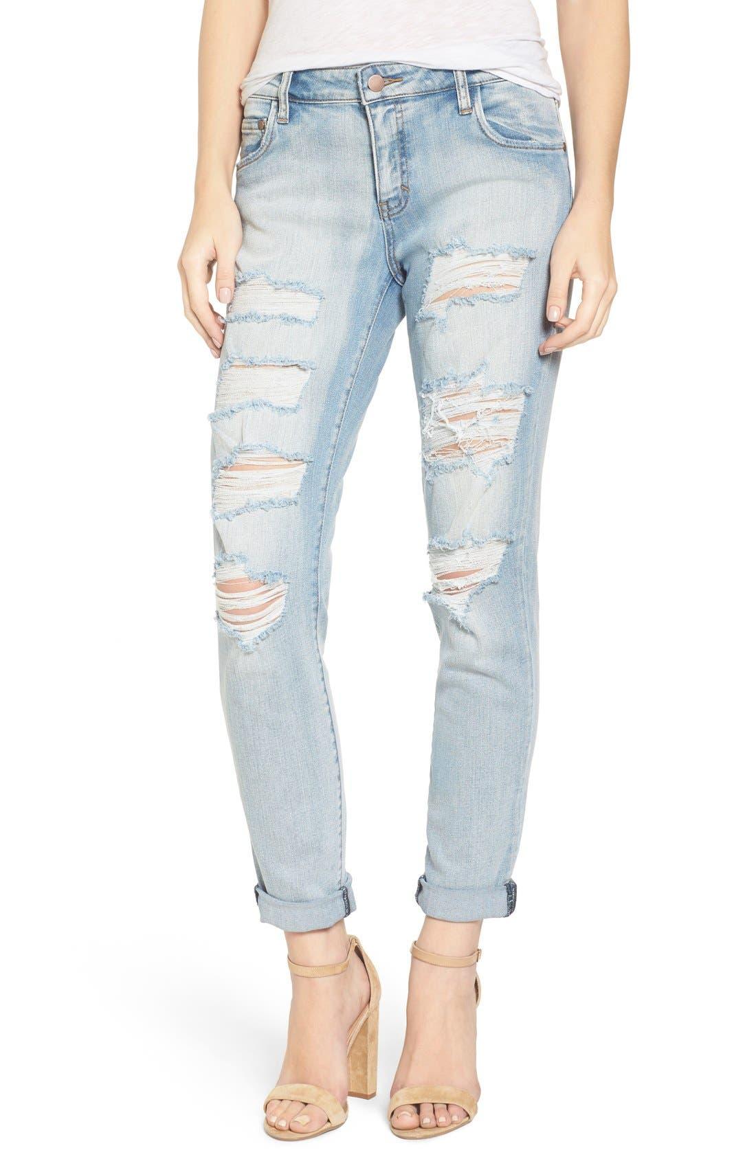 Alternate Image 1 Selected - BP. Ripped Skinny Boyfriend Jeans