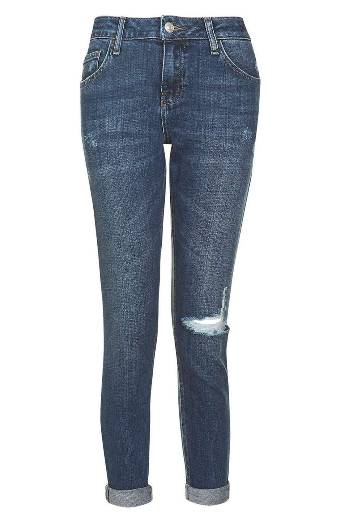 Alternate Image 6  - Topshop Lucas Ripped Boyfriend Jeans (Petite)
