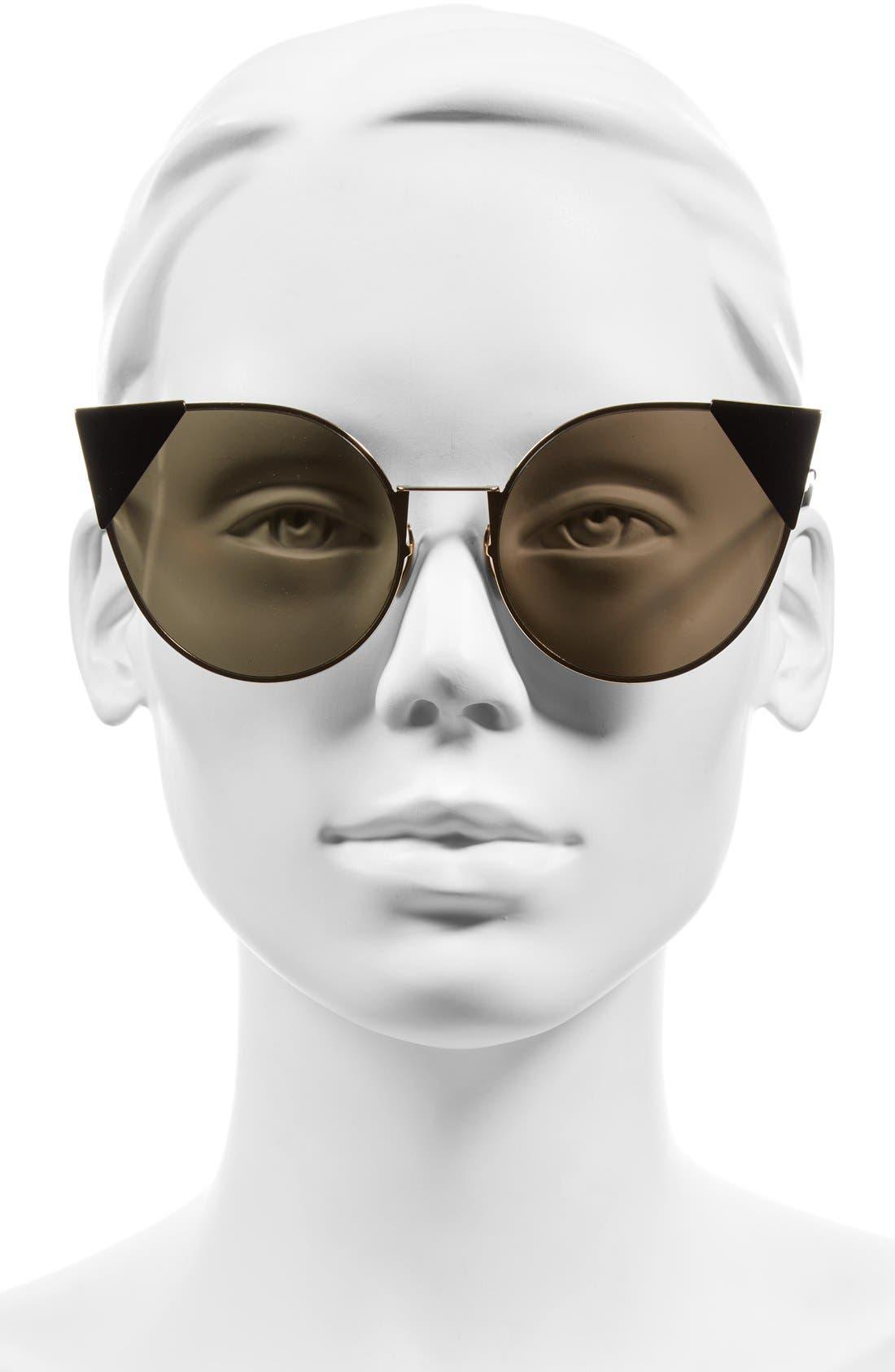 Alternate Image 2  - Fendi 57mm Lei Cat Eye Sunglasses