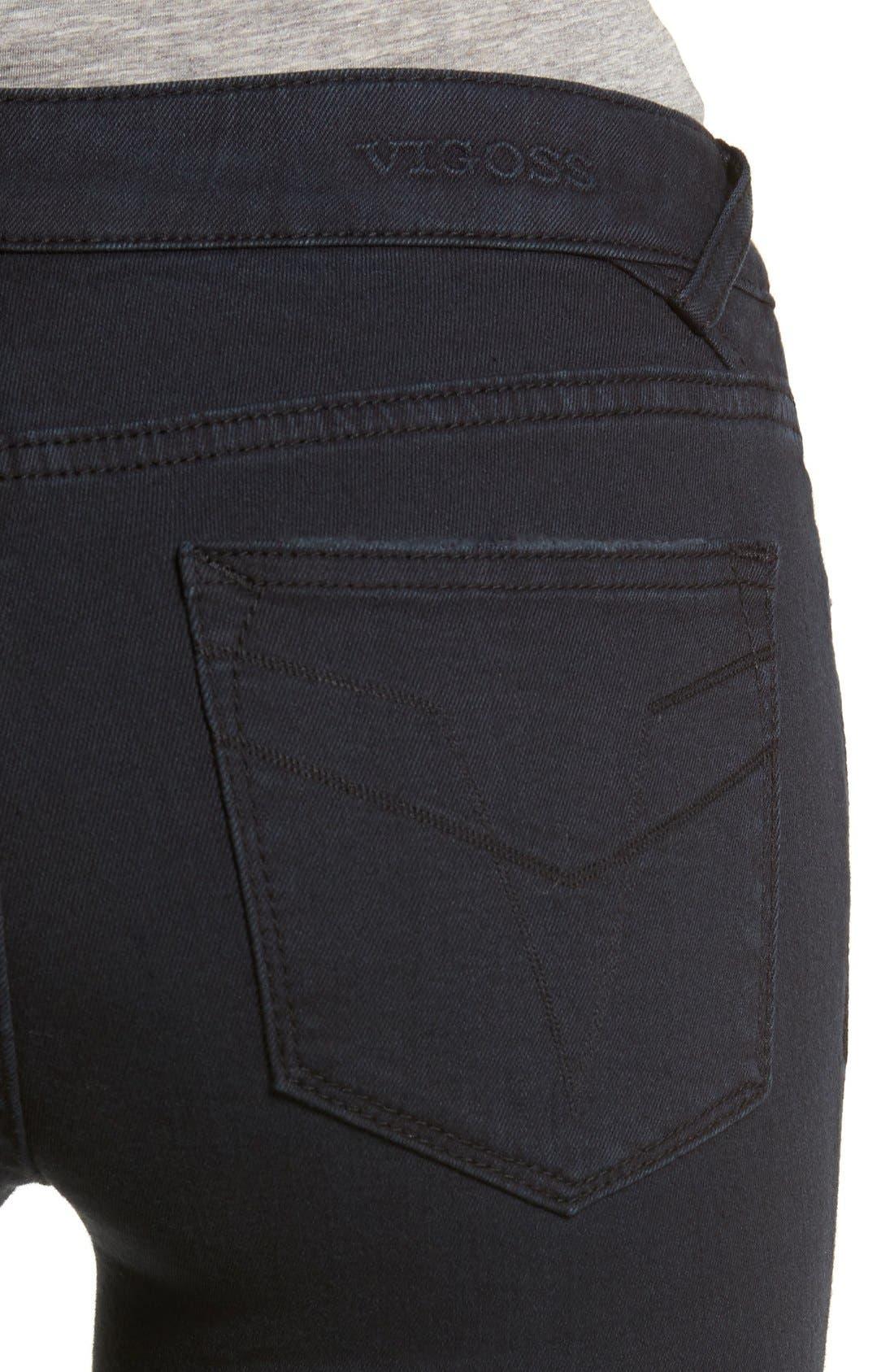 Alternate Image 4  - Vigoss Distressed Zip Skinny Jeans