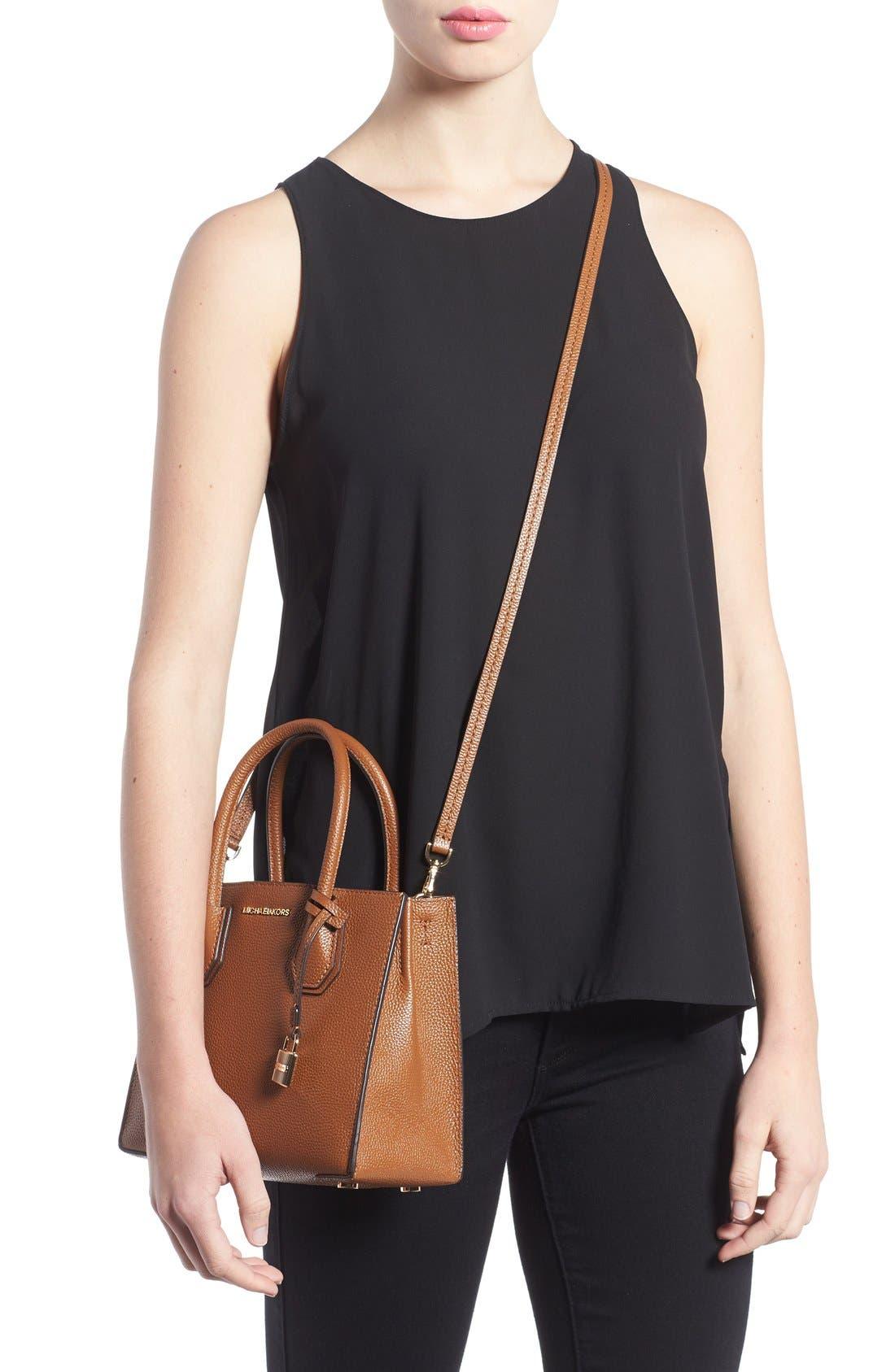 Alternate Image 2  - MICHAEL Michael Kors Mercer Leather Crossbody Bag