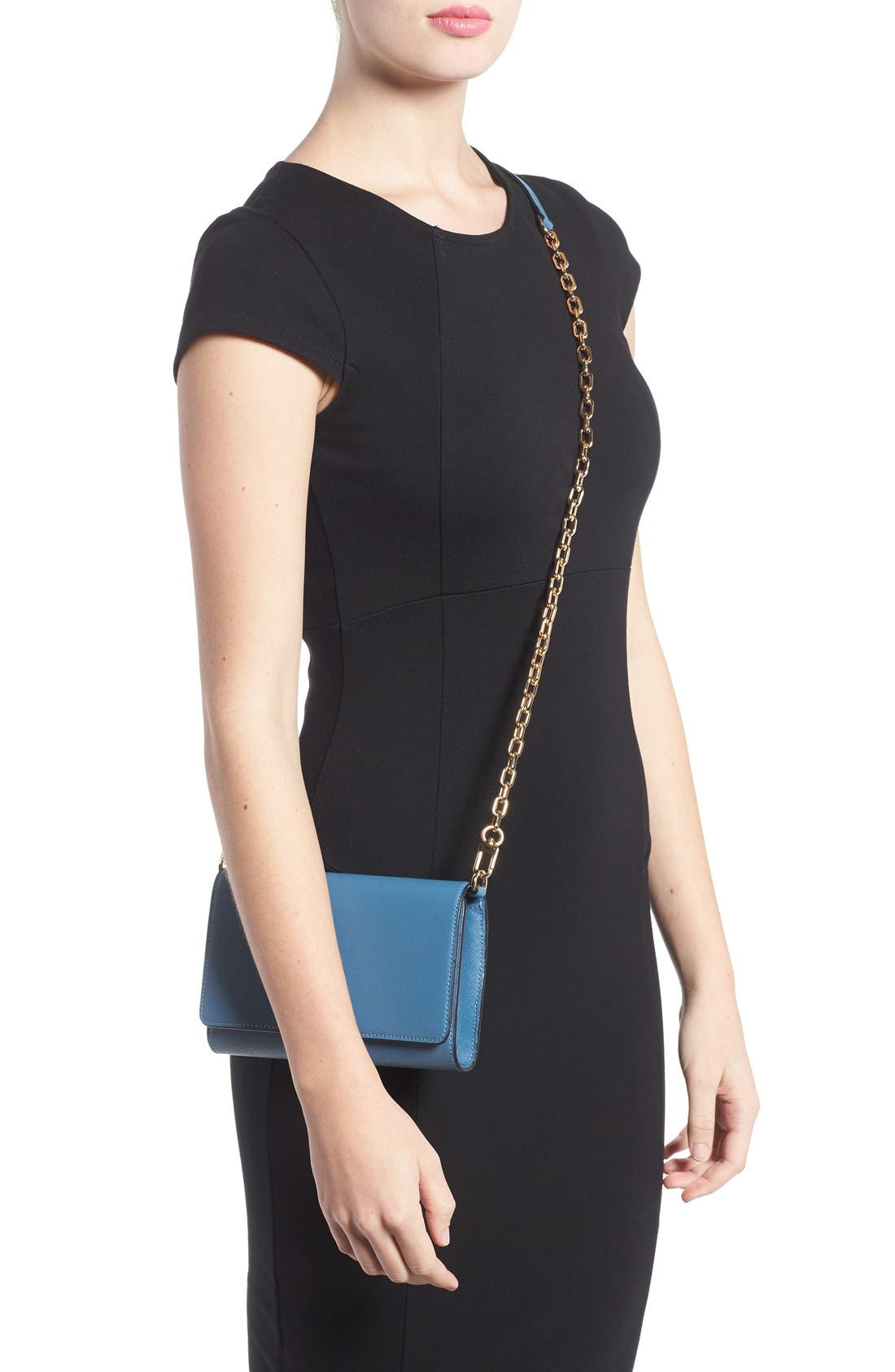 Alternate Image 3  - Tory Burch 'Robinson' Leather Wallet on a Chain