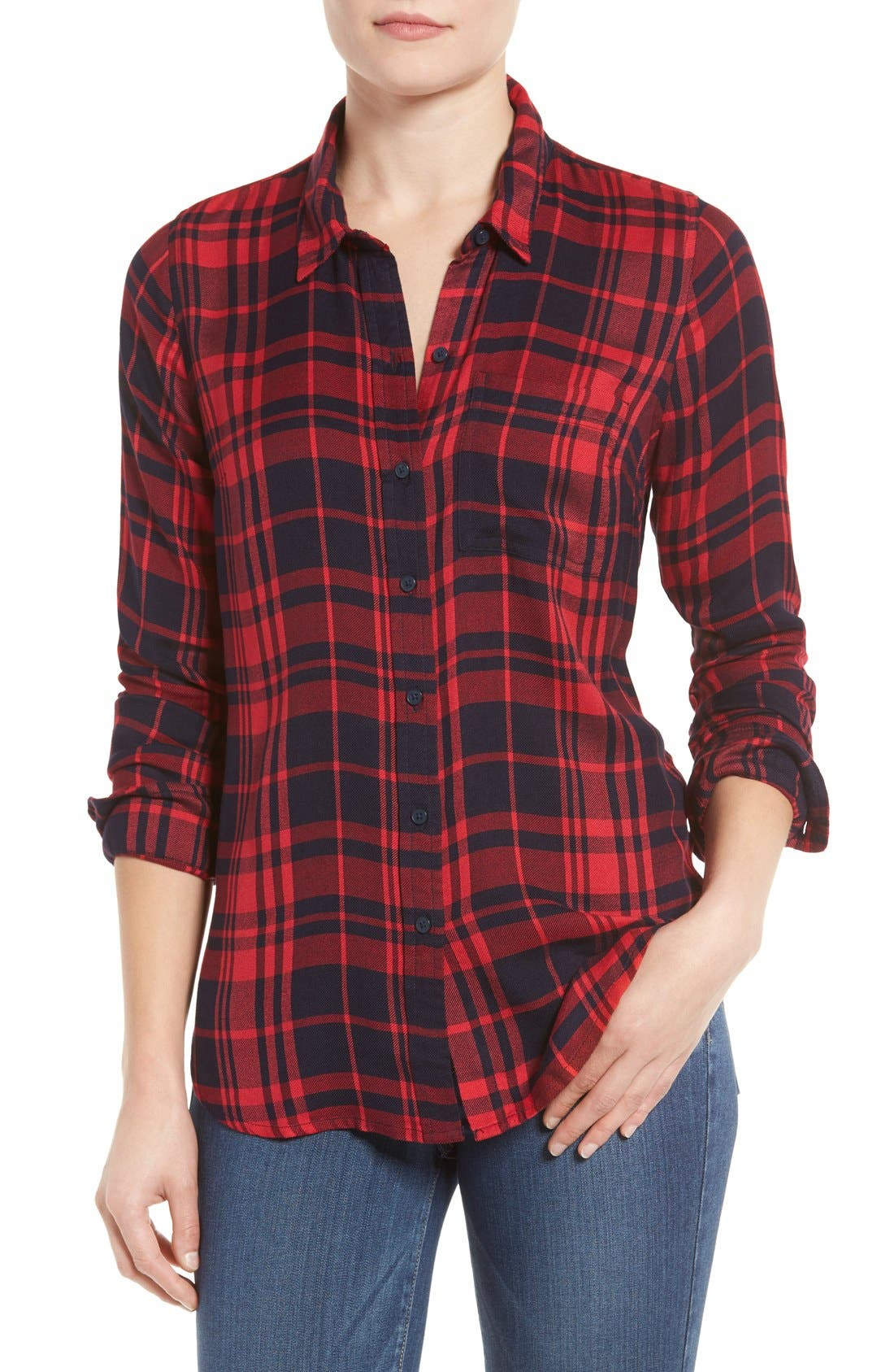 Alternate Image 1 Selected - Lucky Brand Plaid Shirt