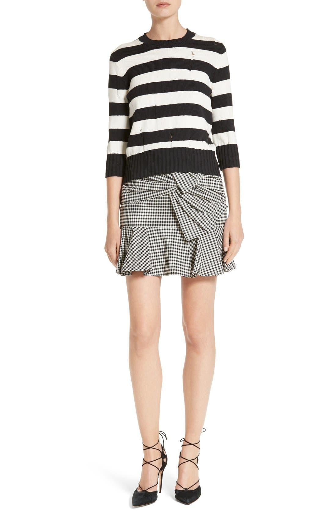 Alternate Image 2  - Veronica Beard Picnic Check Bow Miniskirt