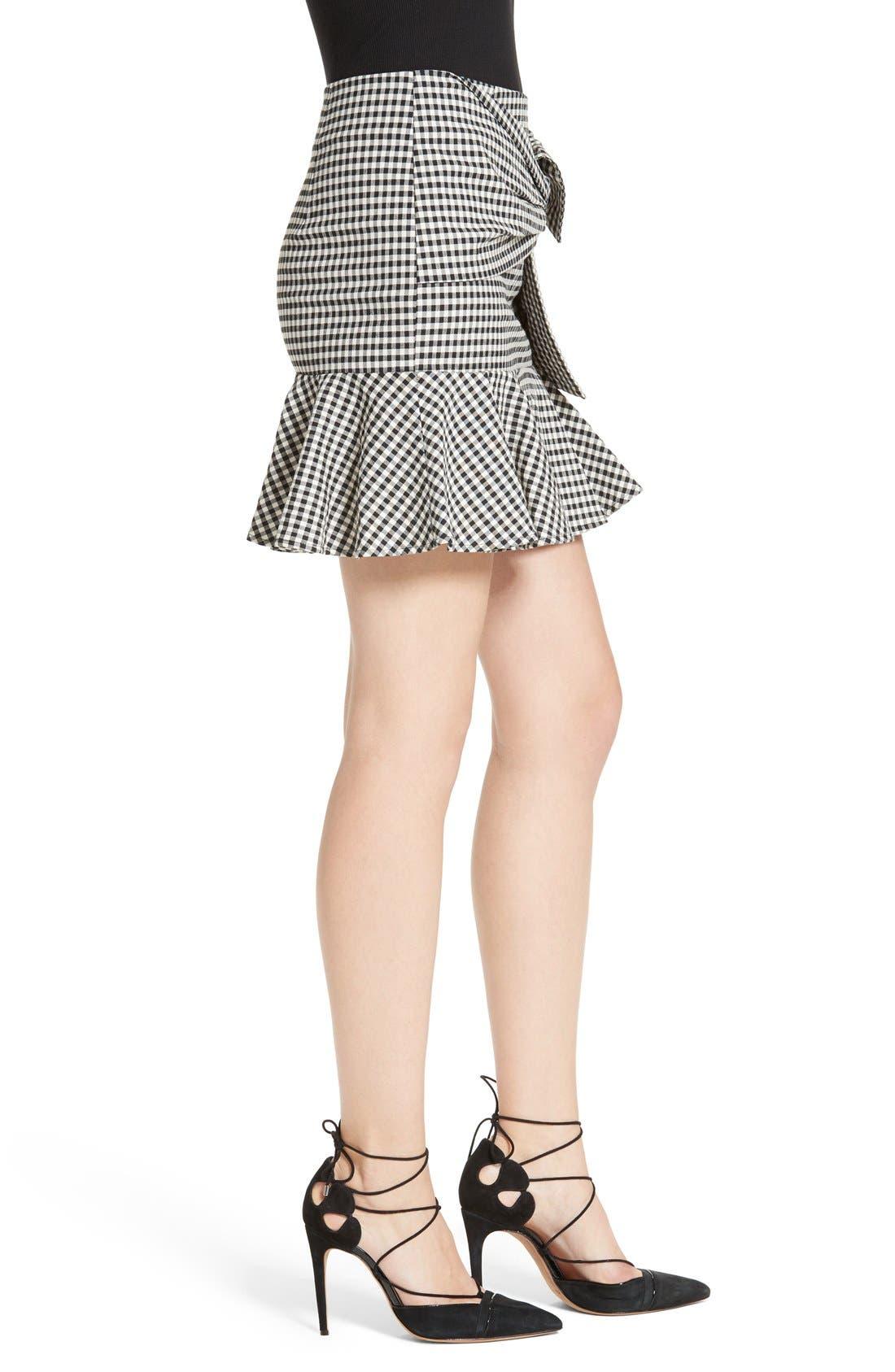 Alternate Image 3  - Veronica Beard Picnic Check Bow Miniskirt