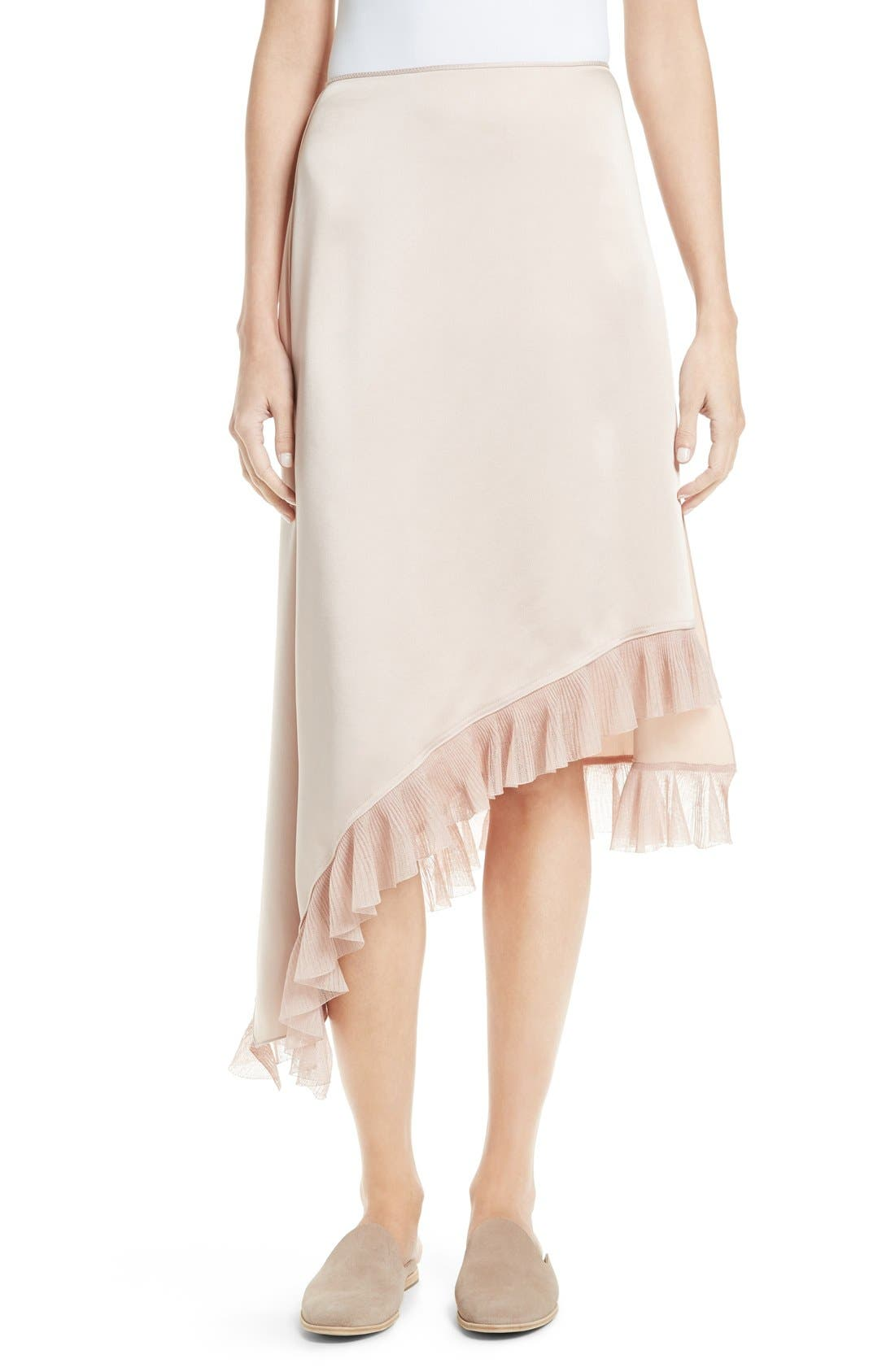 ELIZABETH AND JAMES Ailie Asymmetrical Ruffle Skirt
