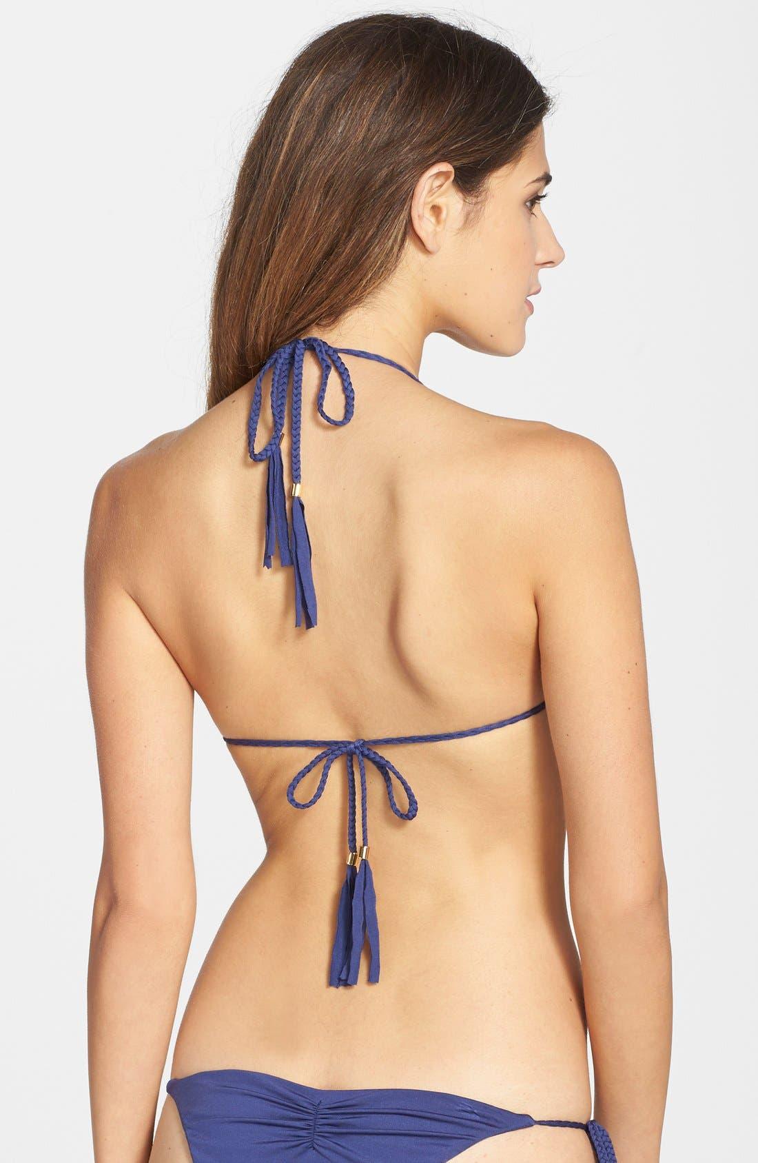 Alternate Image 2  - Blue Life 'Mirage' Lace Trim Triangle Bikini Top