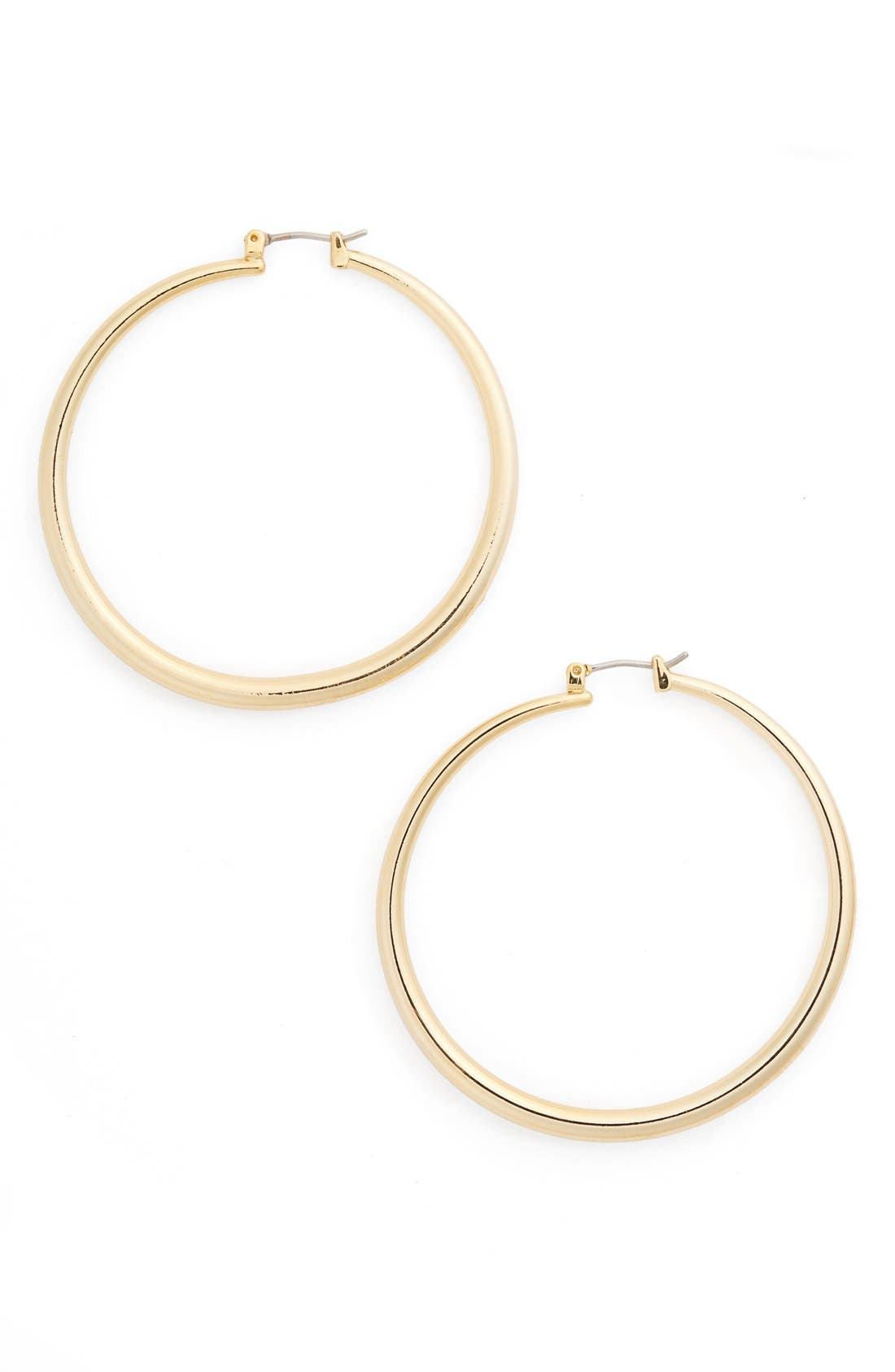 Main Image - Nordstrom Thick Medium Hoop Earrings