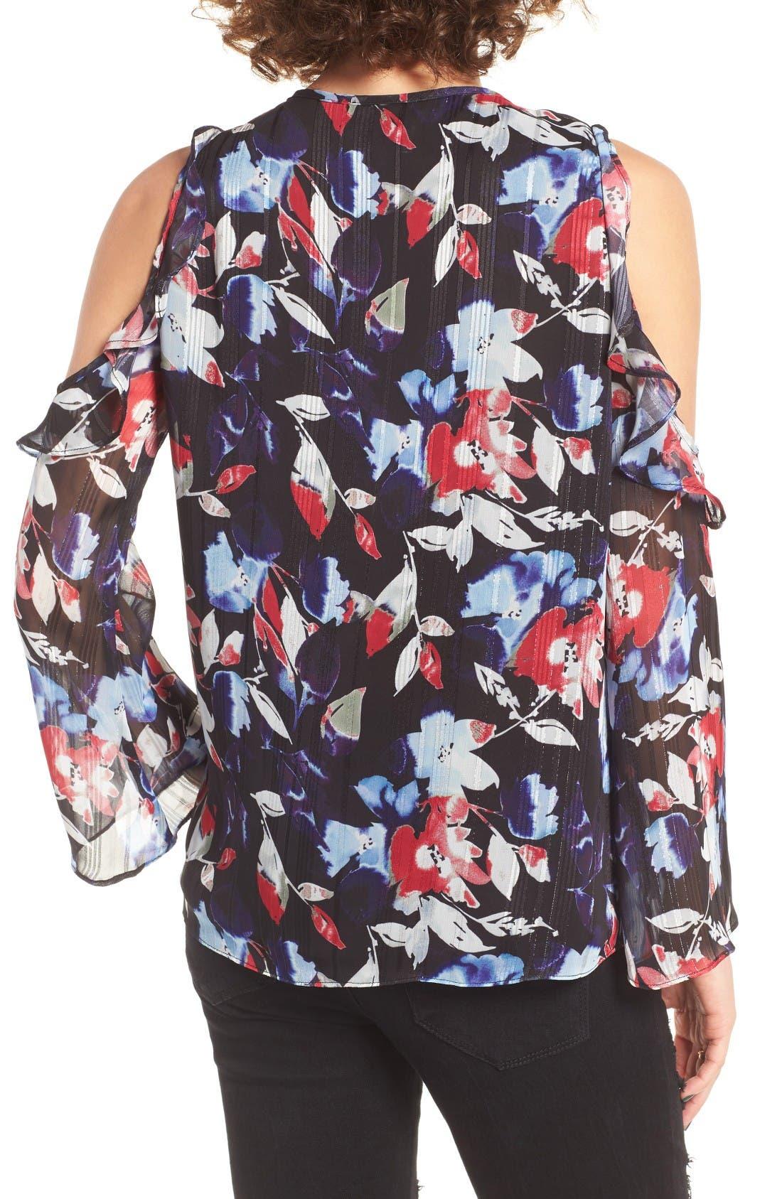 Alternate Image 2  - devlin Essie Floral Cold Shoulder Blouse