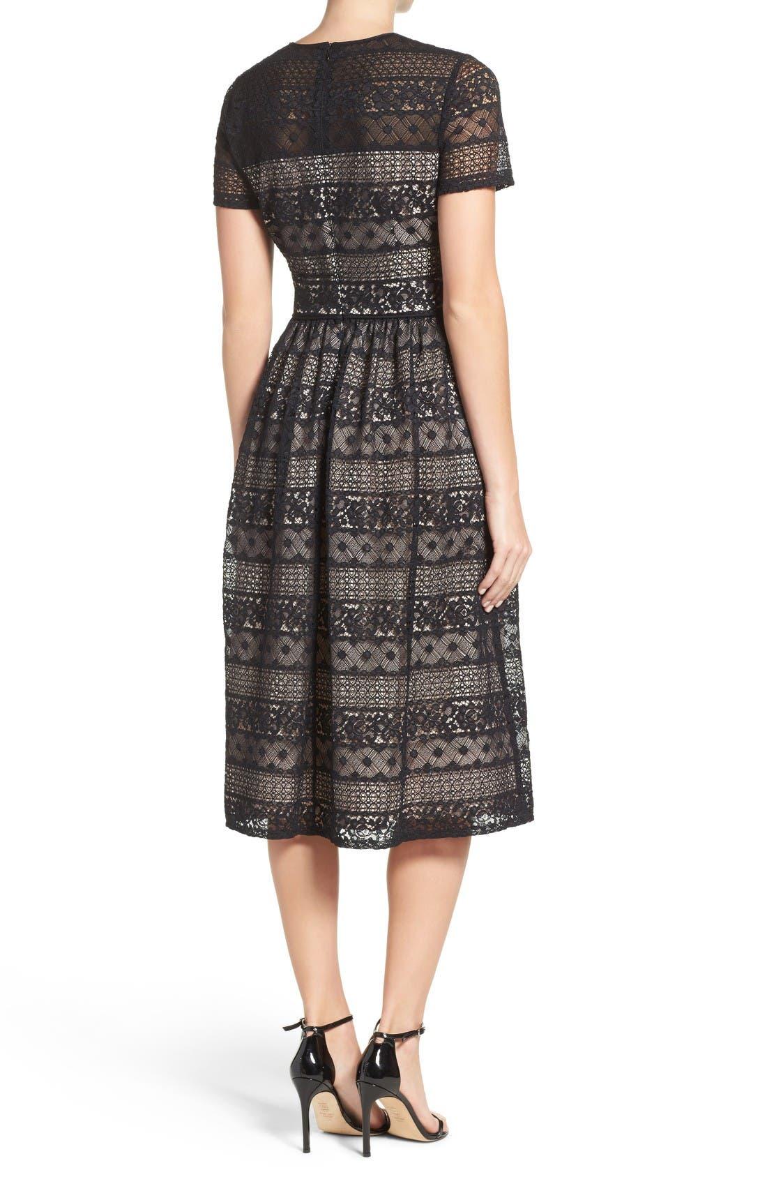 Alternate Image 2  - Maggy London Lace Midi Dress