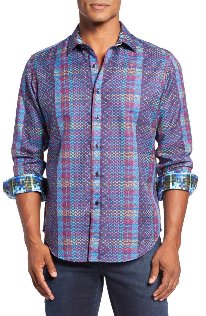 Robert graham classic fit albert finney jacquard sport for Robert graham sport shirt