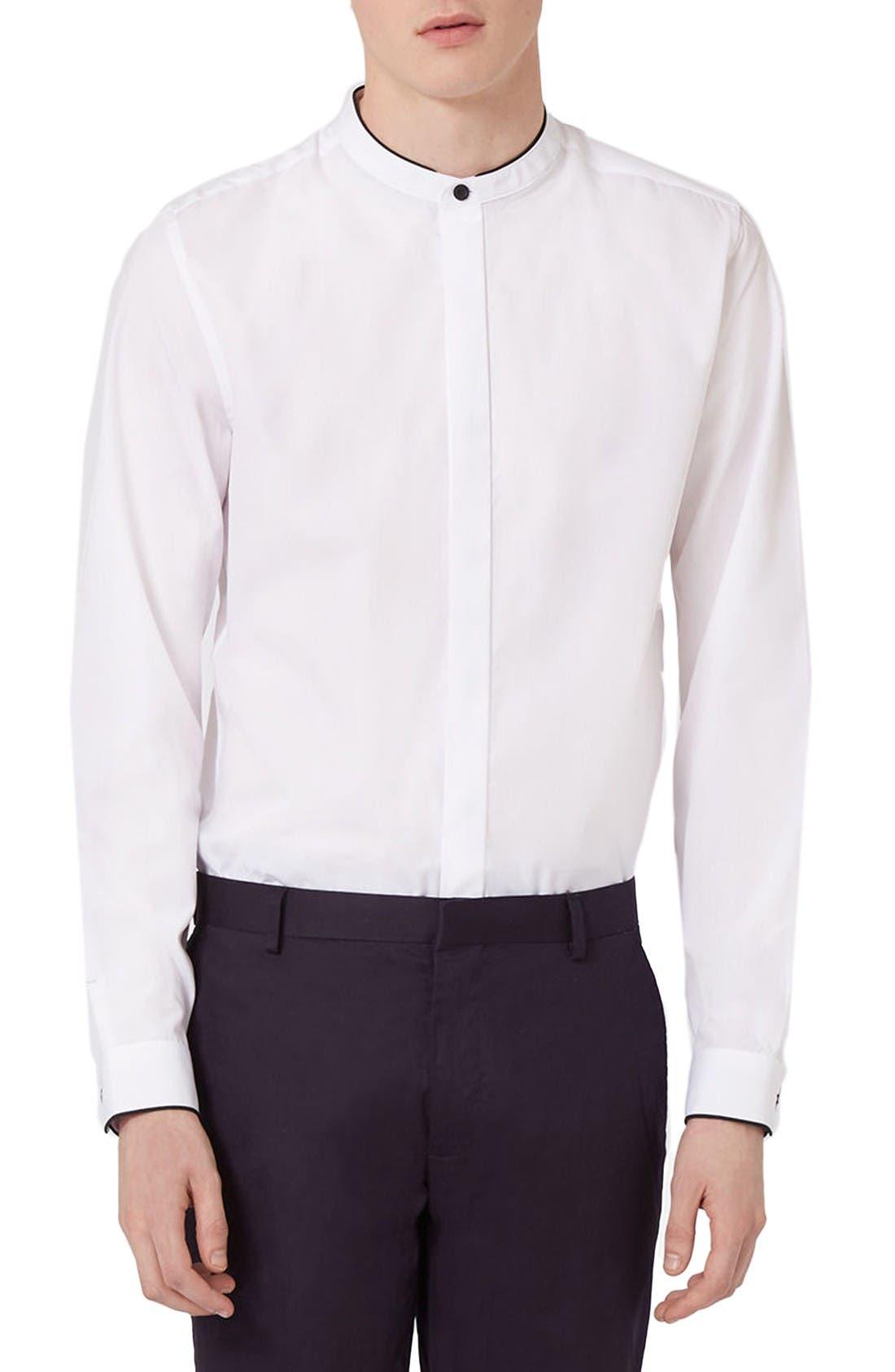 Alternate Image 2  - Topman Slim Fit Band Collar Dress Shirt