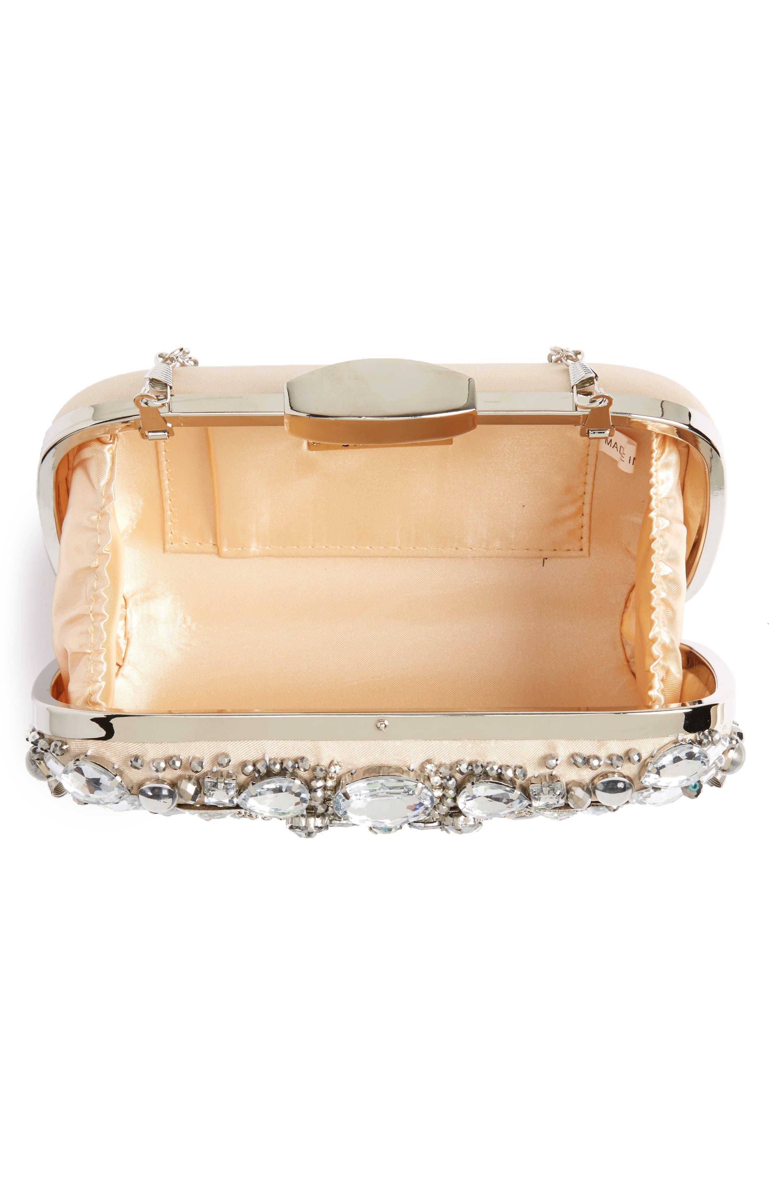 Alternate Image 3  - Natasha Couture Crystal Embellished Frame Clutch