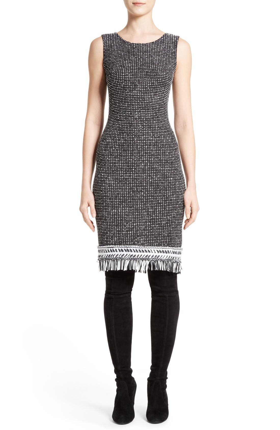 ST. JOHN COLLECTION Nita Tweed Sheath Dress