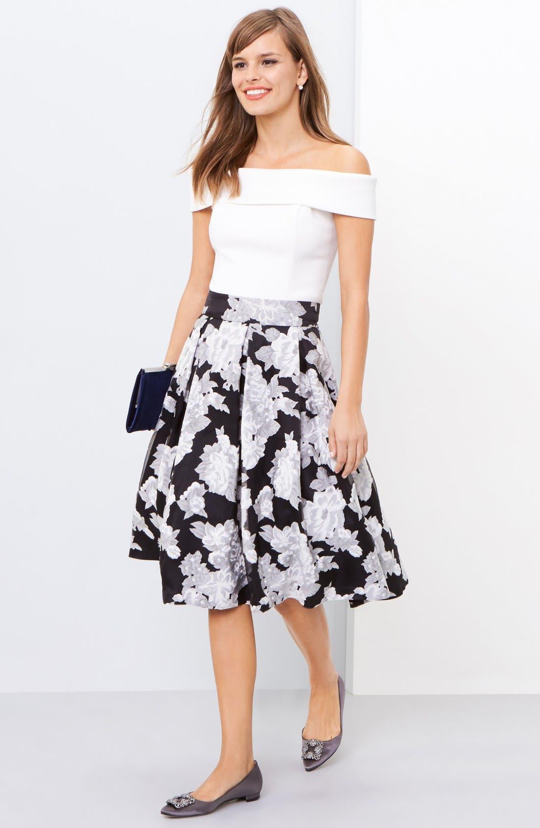 Alternate Image 2  - Eliza J Floral Print Organza Midi Skirt