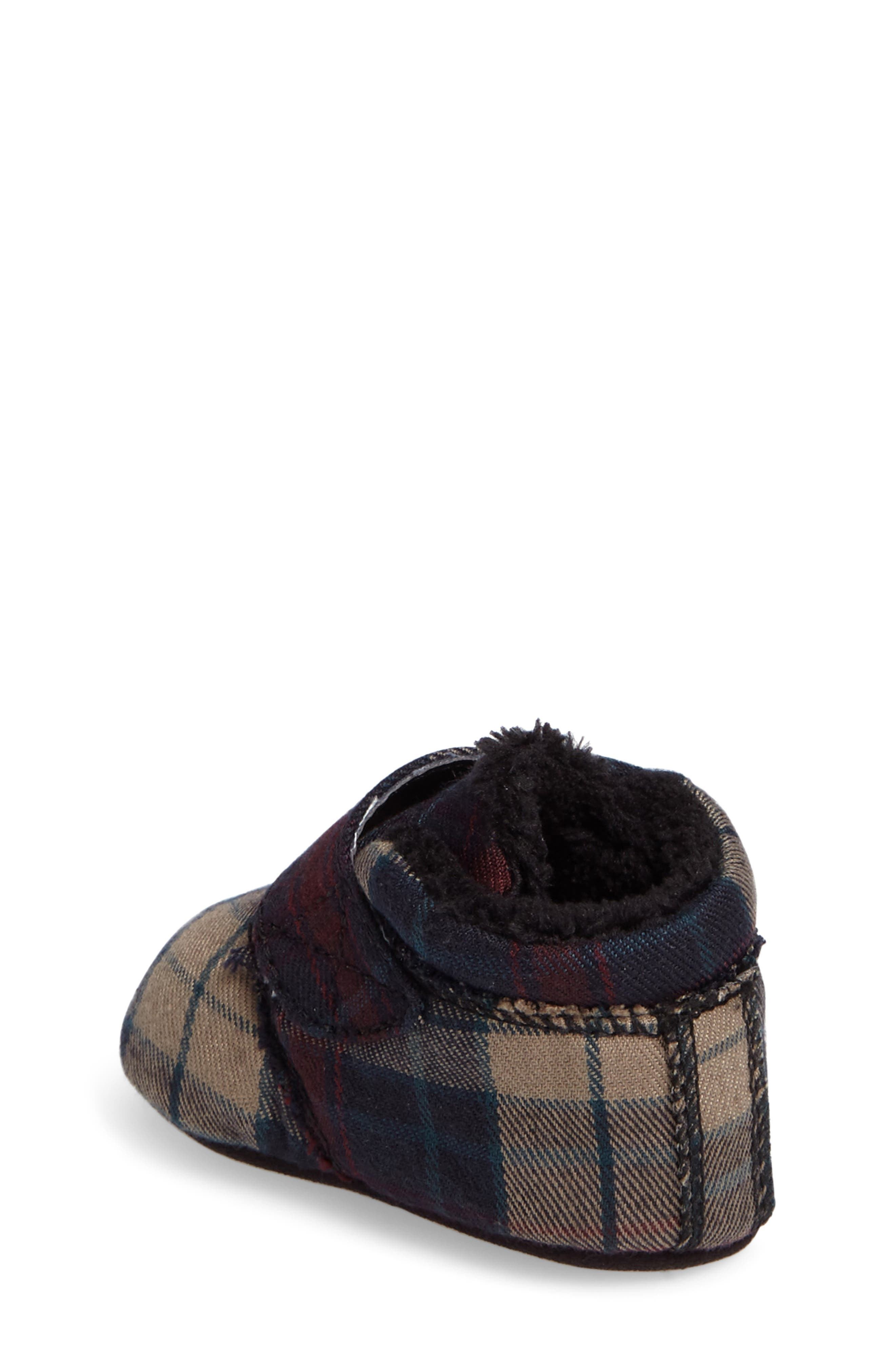 Alternate Image 2  - UGG® Bixbee Plaid Crib Bootie (Baby)