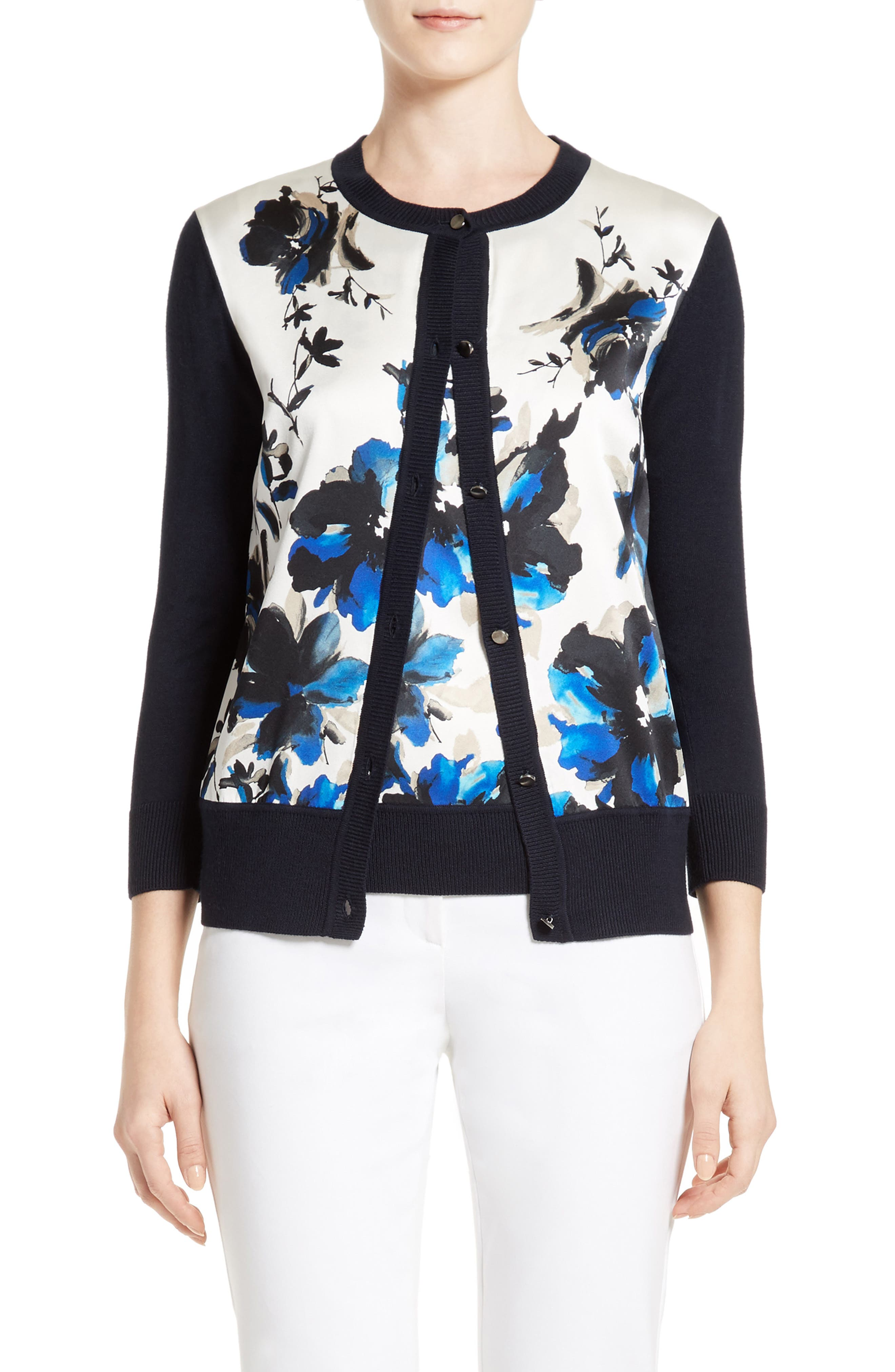 ST. JOHN COLLECTION Painted Oleander Cardigan