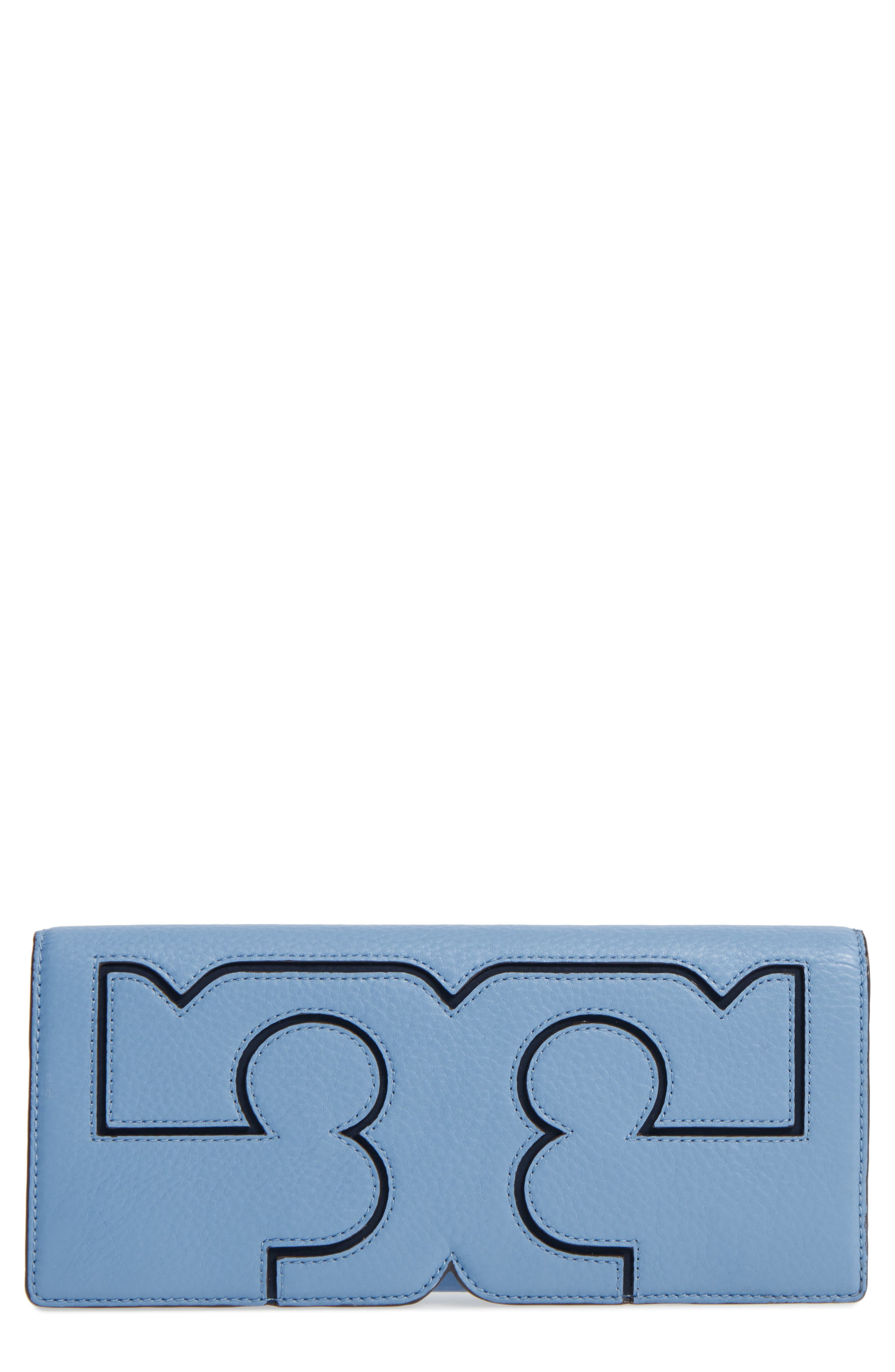Main Image - Tory Burch Serif Leather Clutch