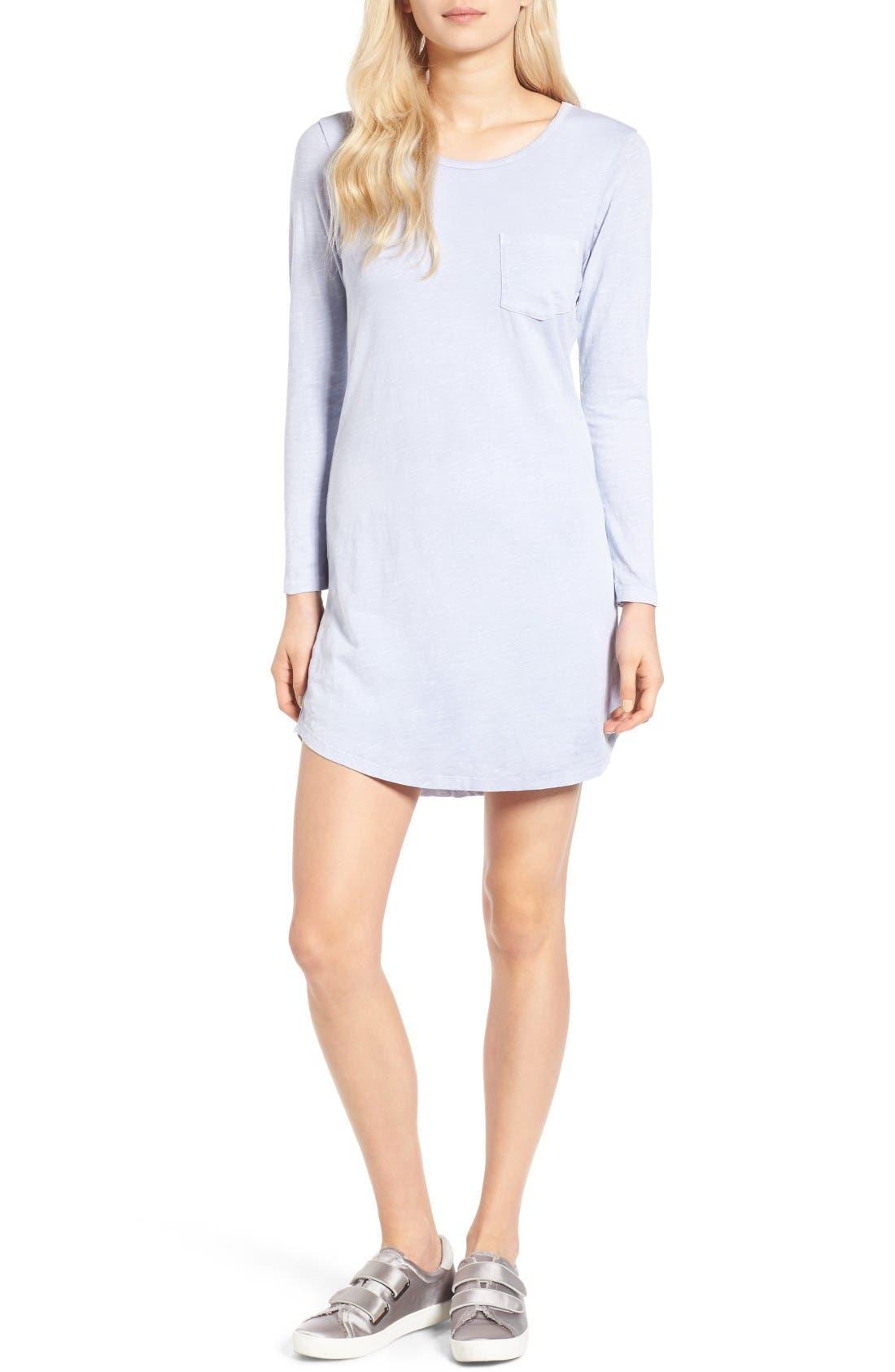 Alternate Image 1 Selected - Sundry Long Sleeve T-Shirt Dress